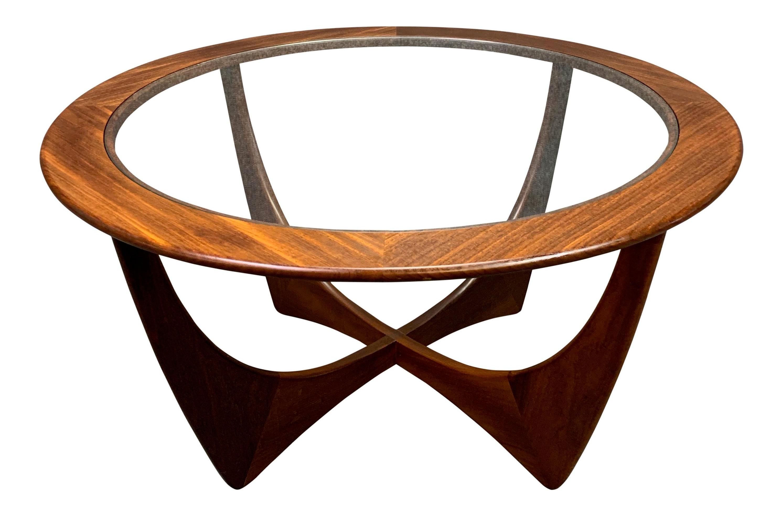 Astro Coffee Table.1960s Mid Century Modern G Plan Teak Astro Round Coffee Table