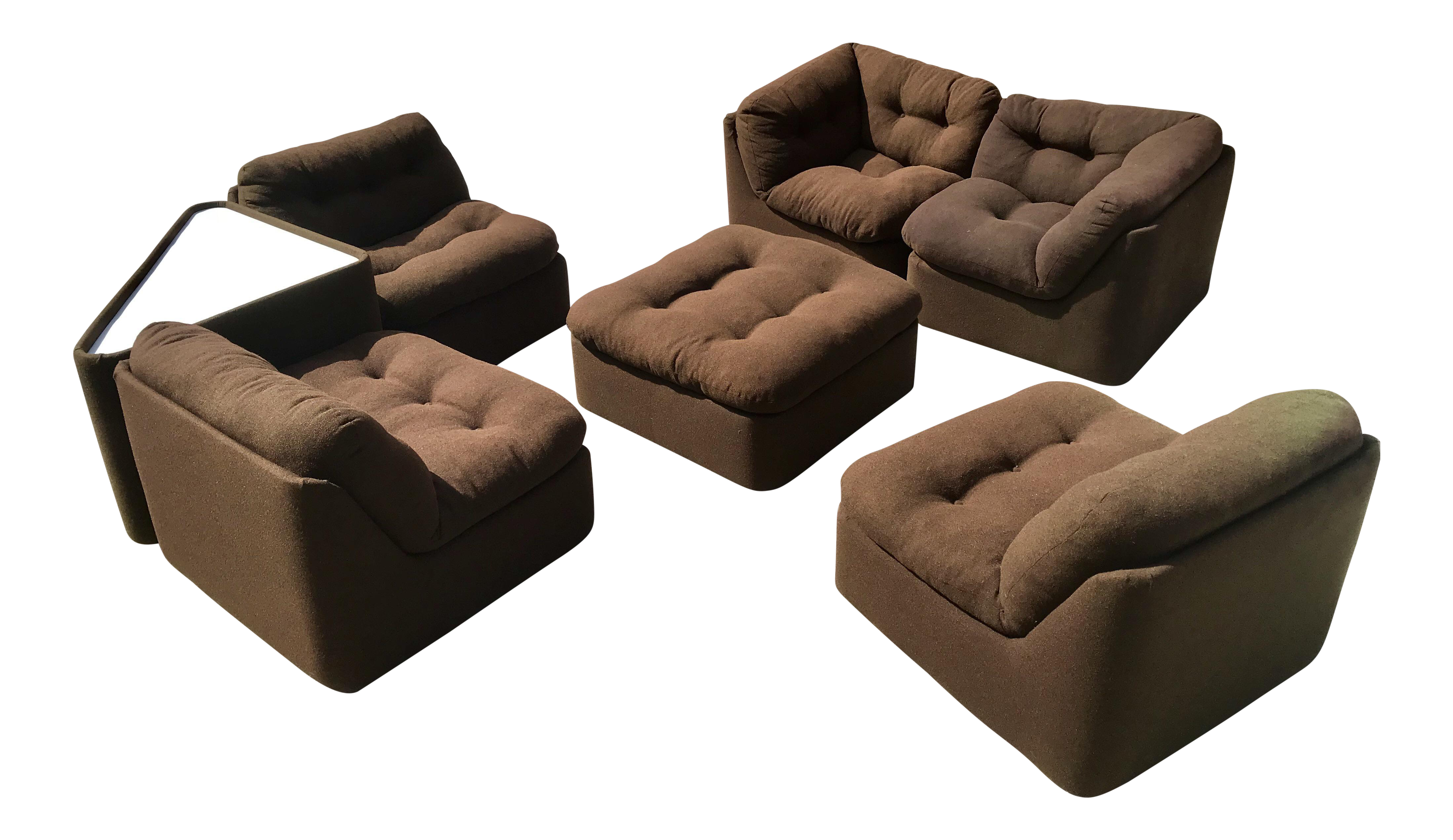 Picture of: 1970s Modular Sofa Sectional Chairish