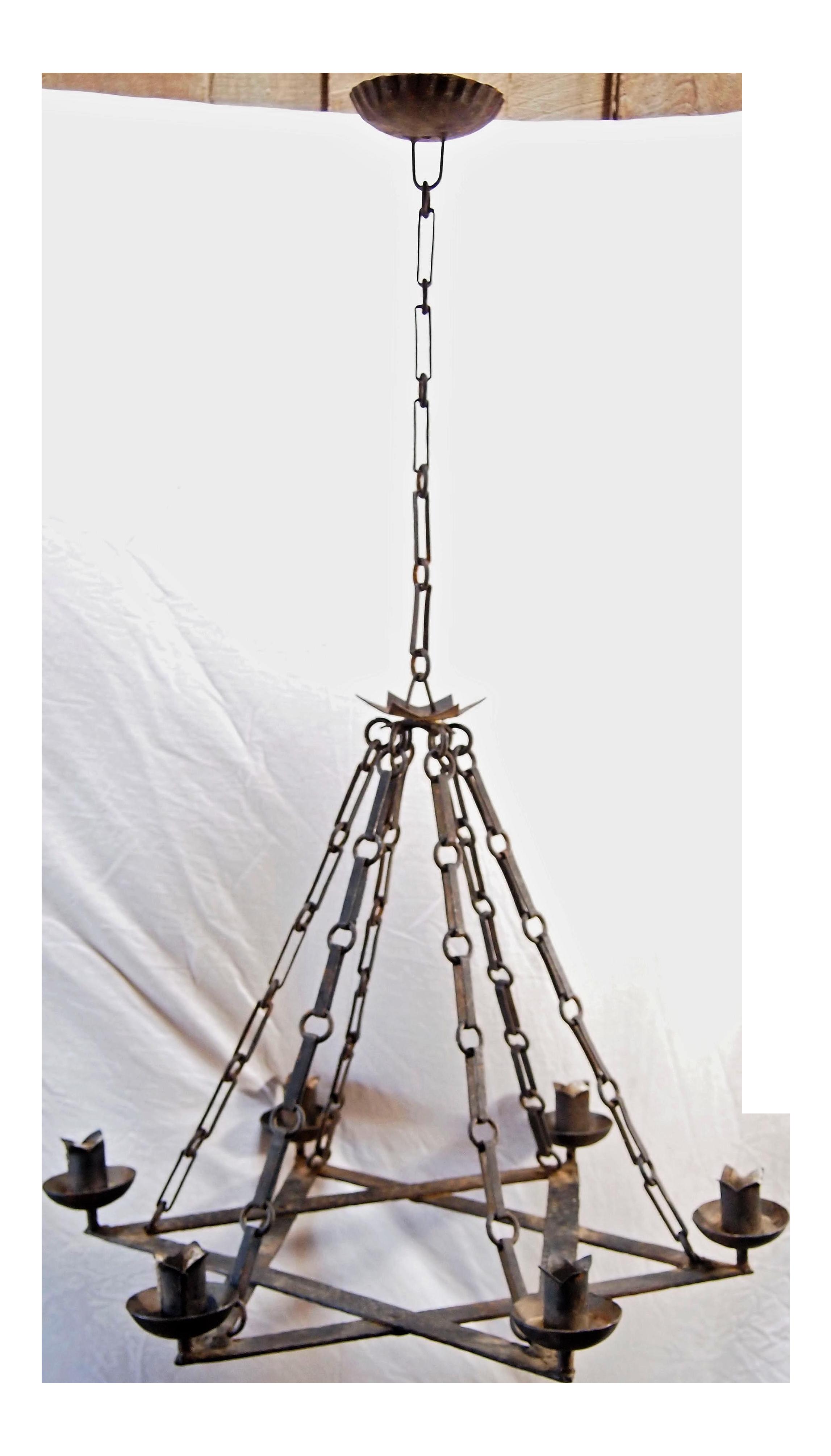 1920s iron star form chandelier chairish arubaitofo Gallery