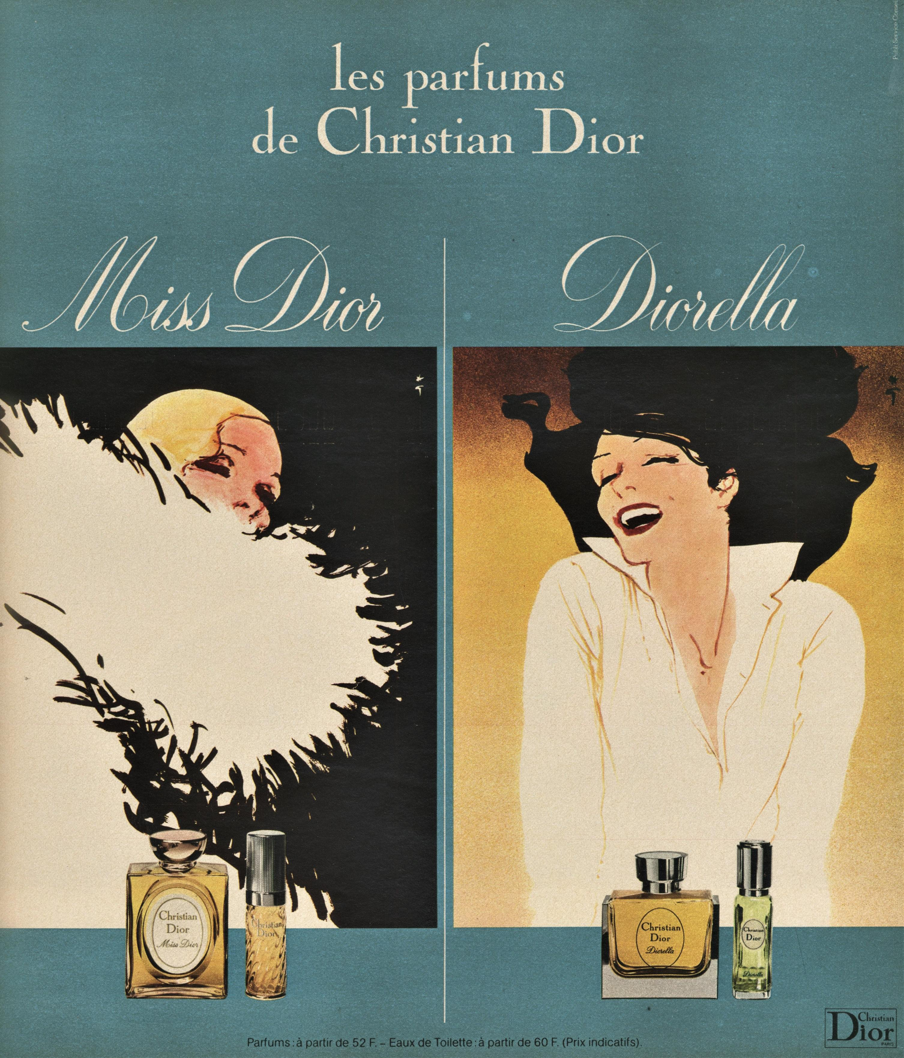 6c87794b2 Matted Vintage French Dior Perfume Print by Gruau