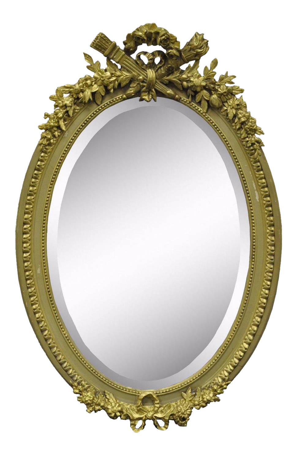 antique oval mirror frame. Antique French Louis XVI Style Gold Gilt Torch Flame Gesso Oval Mirror Vintage | Chairish Frame V