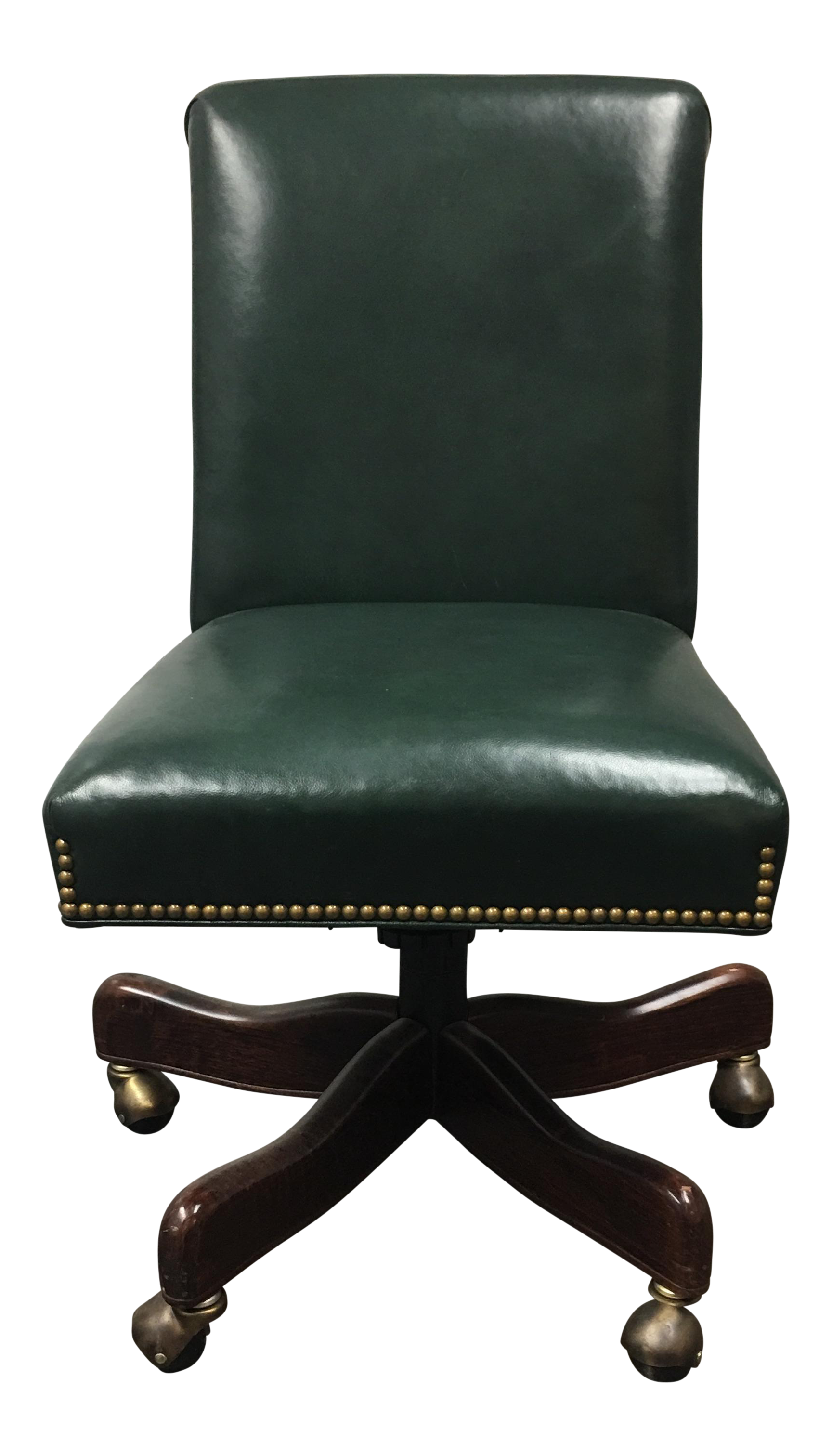 Hancock Amp Moore Green Leather Office Chair Chairish