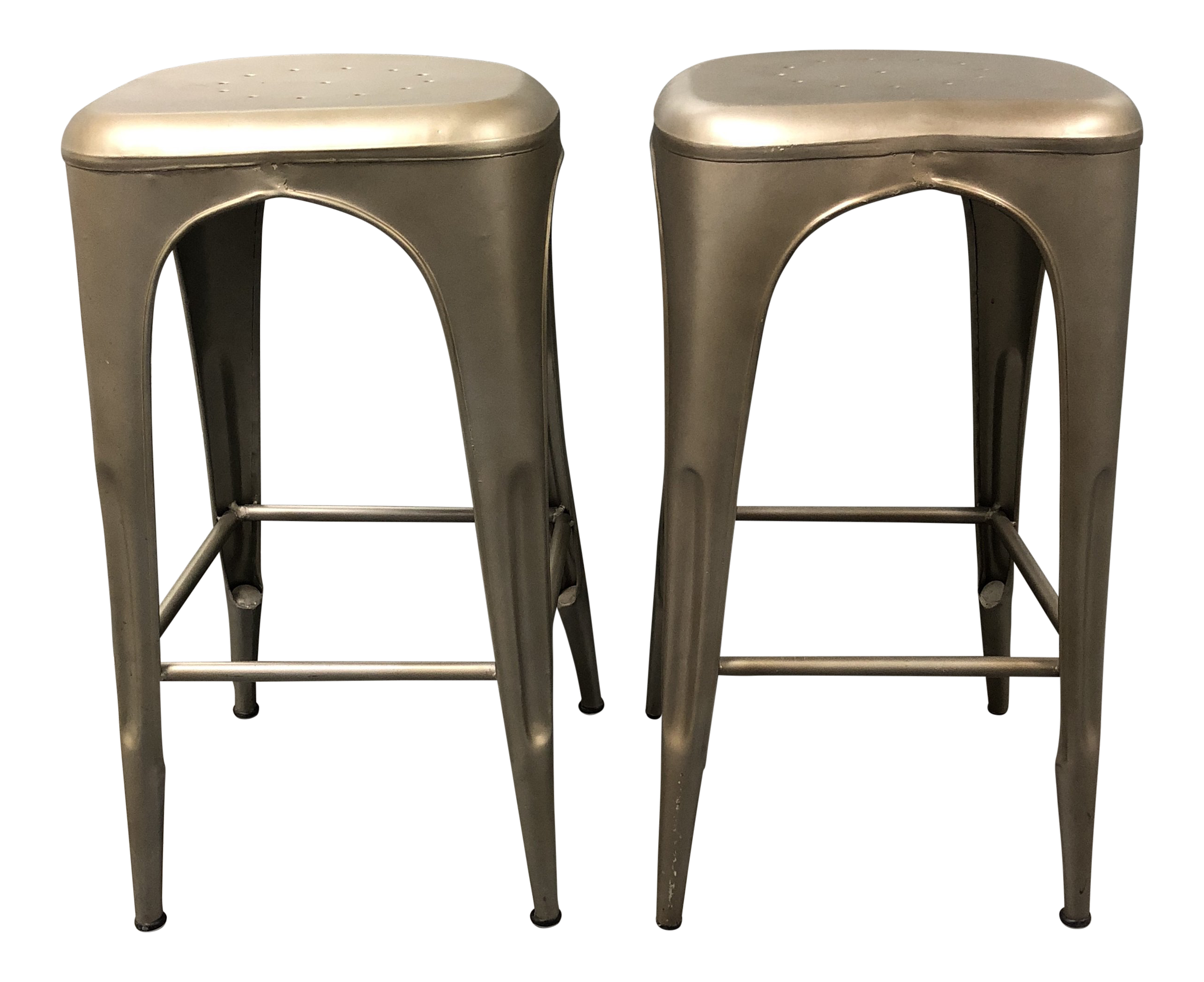 Swell Restoration Hardware Remy Backless Bar Stools A Pair Inzonedesignstudio Interior Chair Design Inzonedesignstudiocom