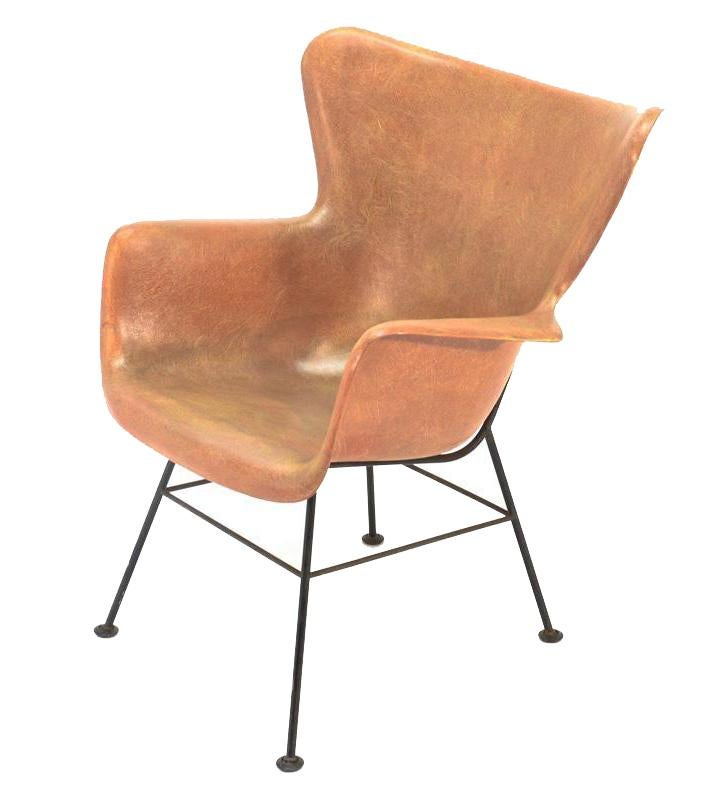 Lawrence Peabody For Selig Fiberglass Shell Chair Chairish
