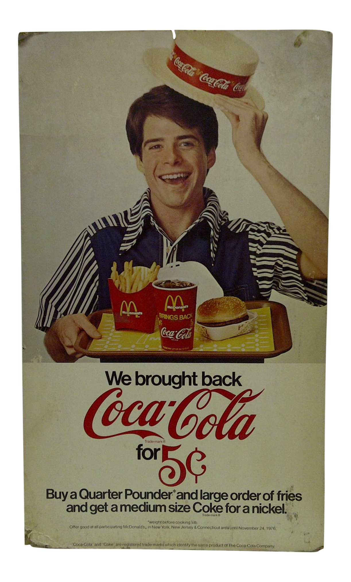 Vintage Mcdonalds Amp Coca Cola Advertising Sign Chairish