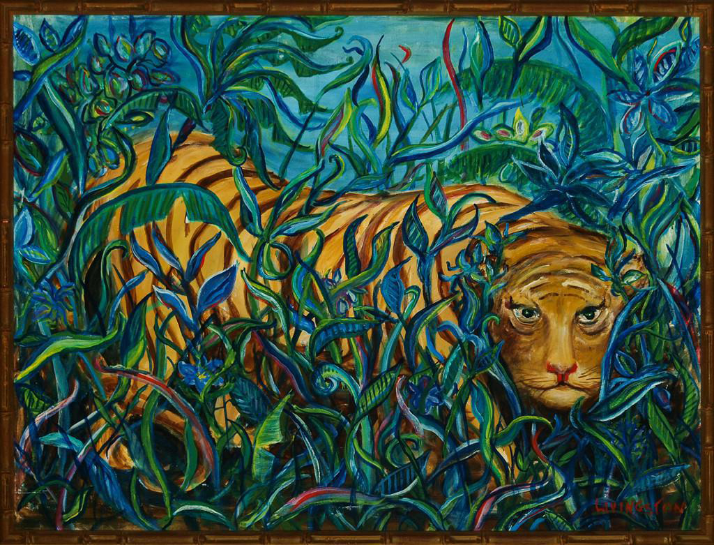 Quot Jungle Tiger Quot Oil Painting Chairish