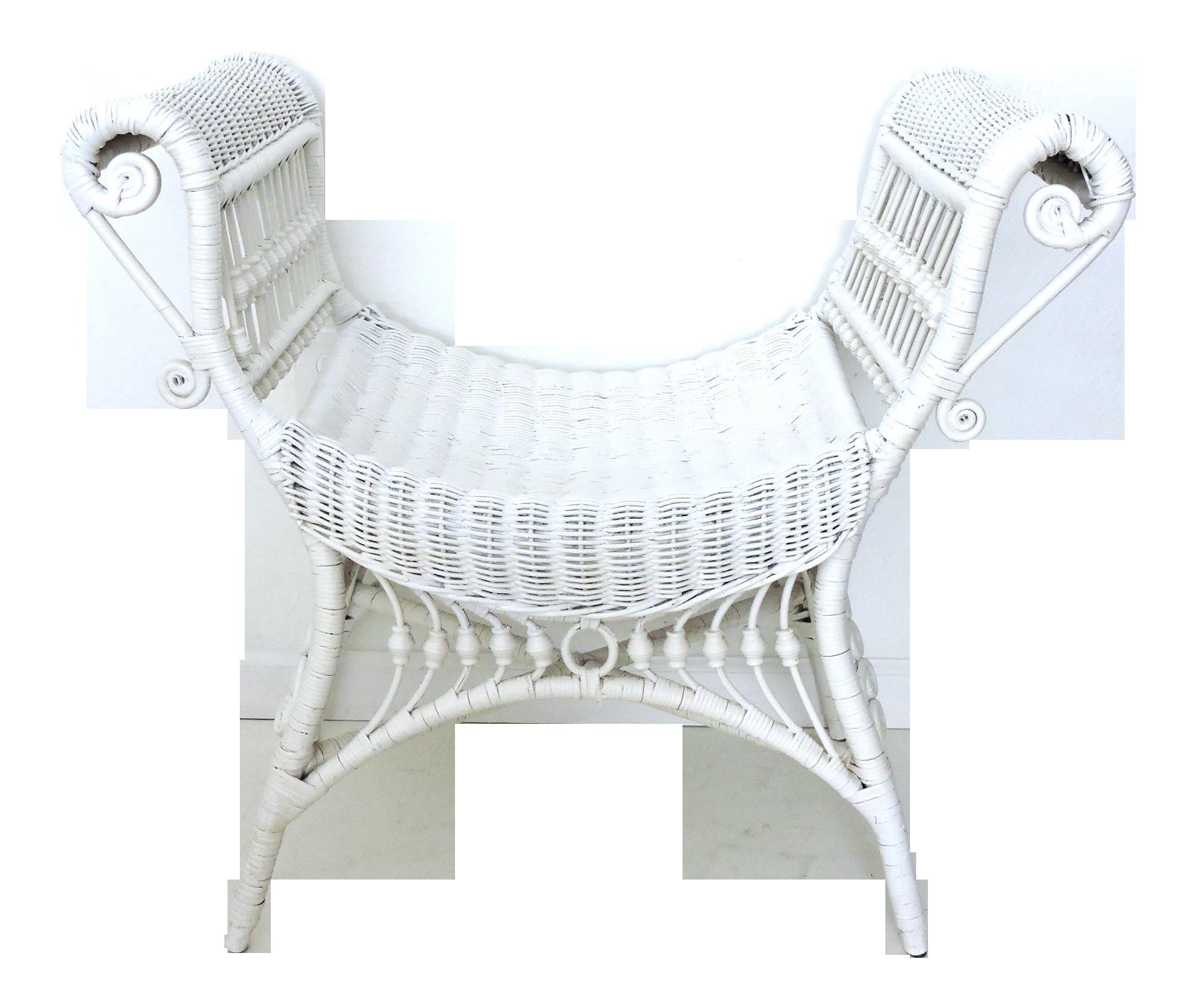 Heywood Wakefield Wicker Seat Bench Chairish