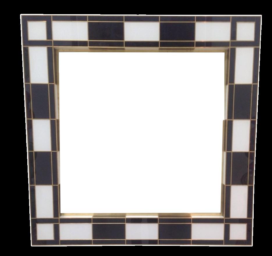 black white mirror chairish. Black Bedroom Furniture Sets. Home Design Ideas
