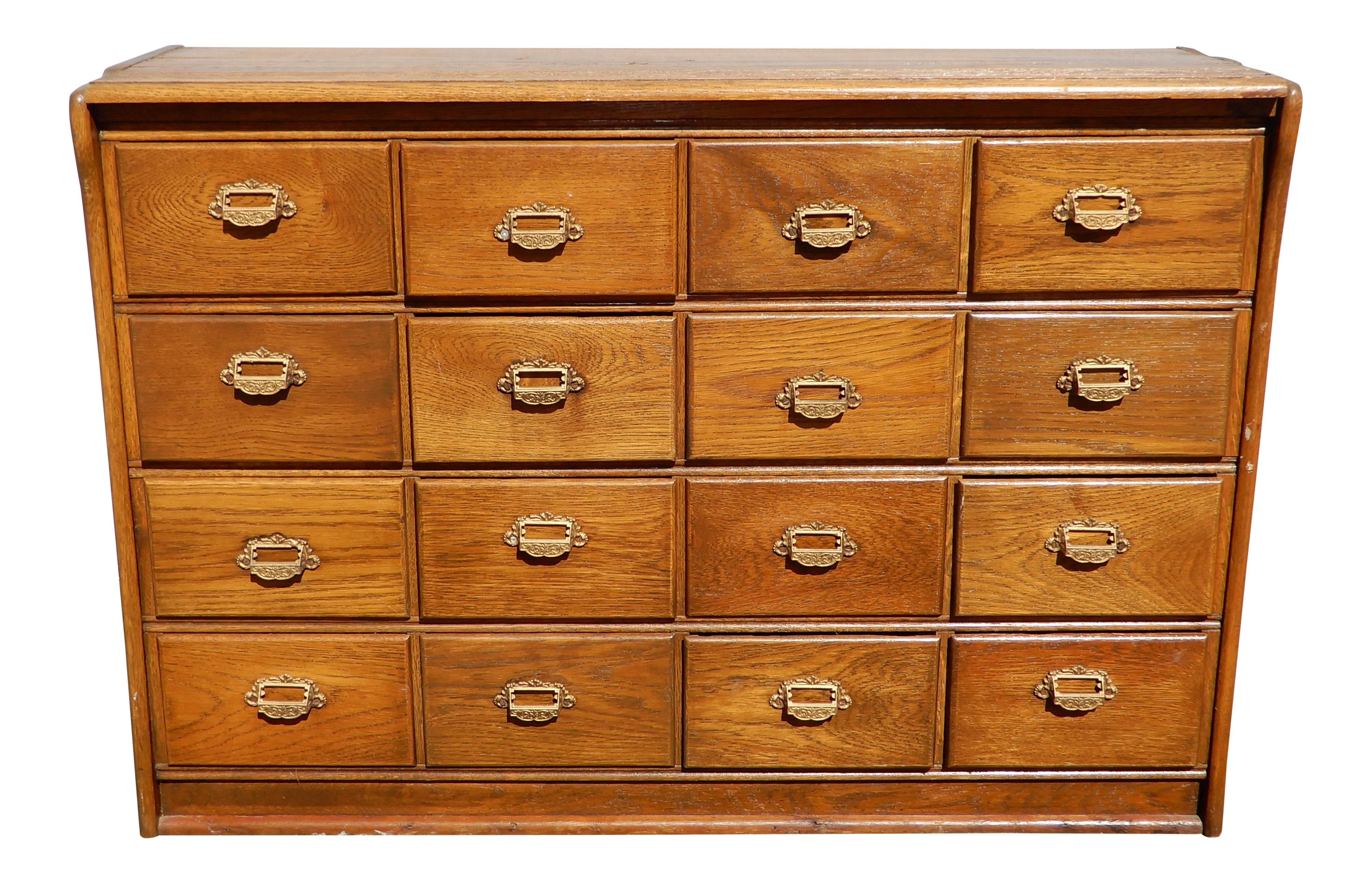 Miraculous Vintage French Country Oak 16 Drawer Apothecary File Cabinet Sideboard Interior Design Ideas Grebswwsoteloinfo