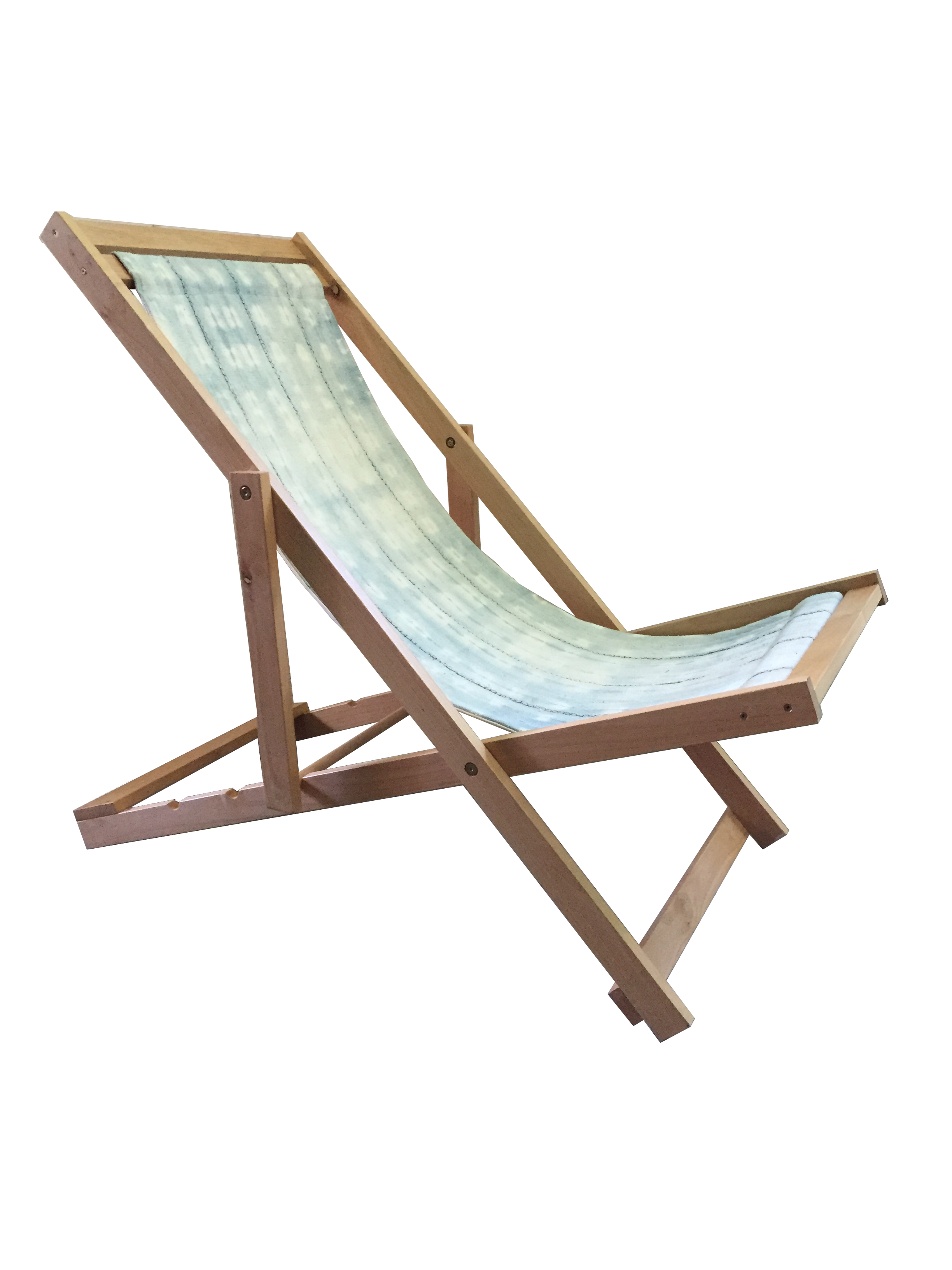 Folding Sling Chair With African Mud Cloth Chairish