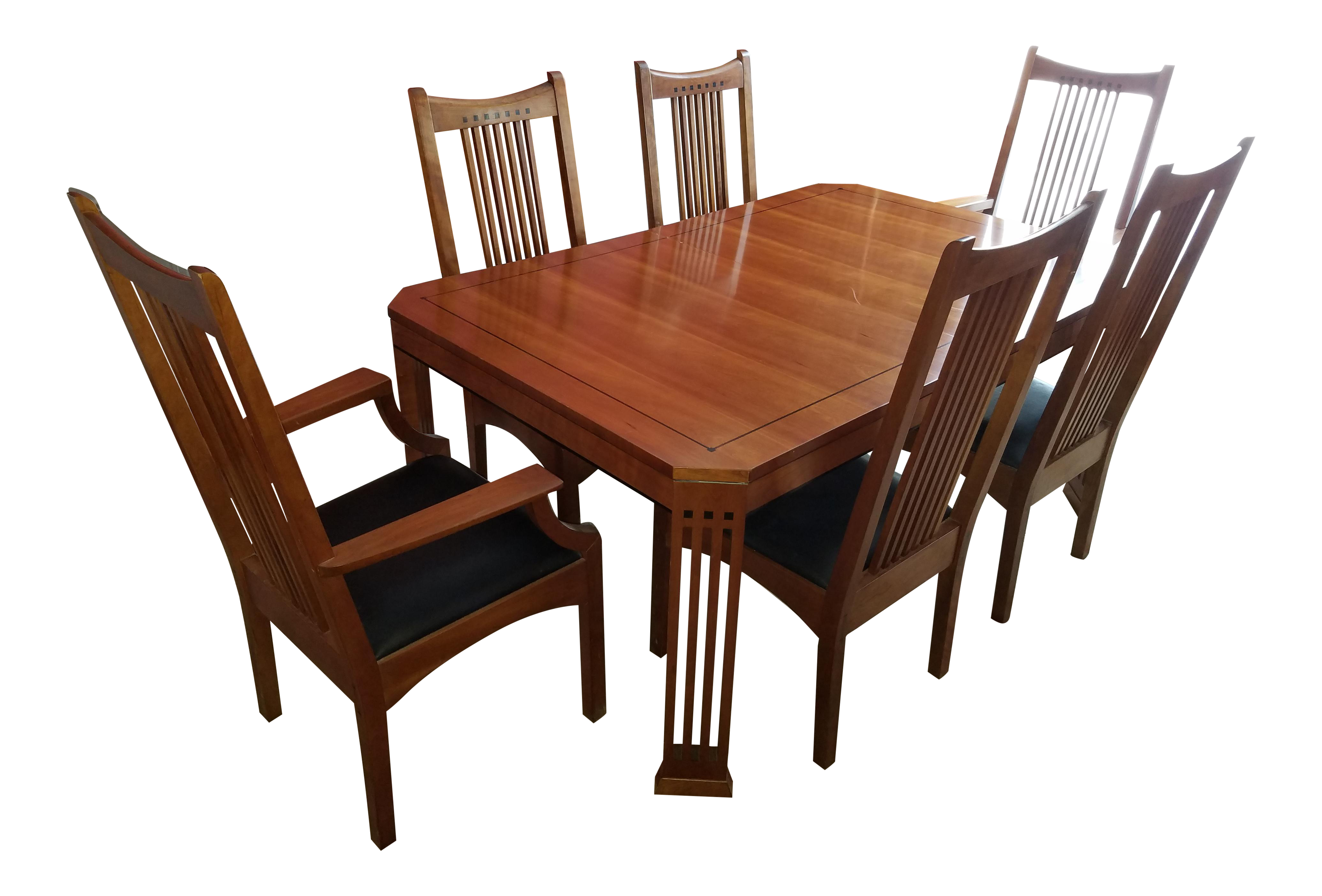 Stickley 21st Century Collection Dining Table Set With 6 Chairs | Chairish