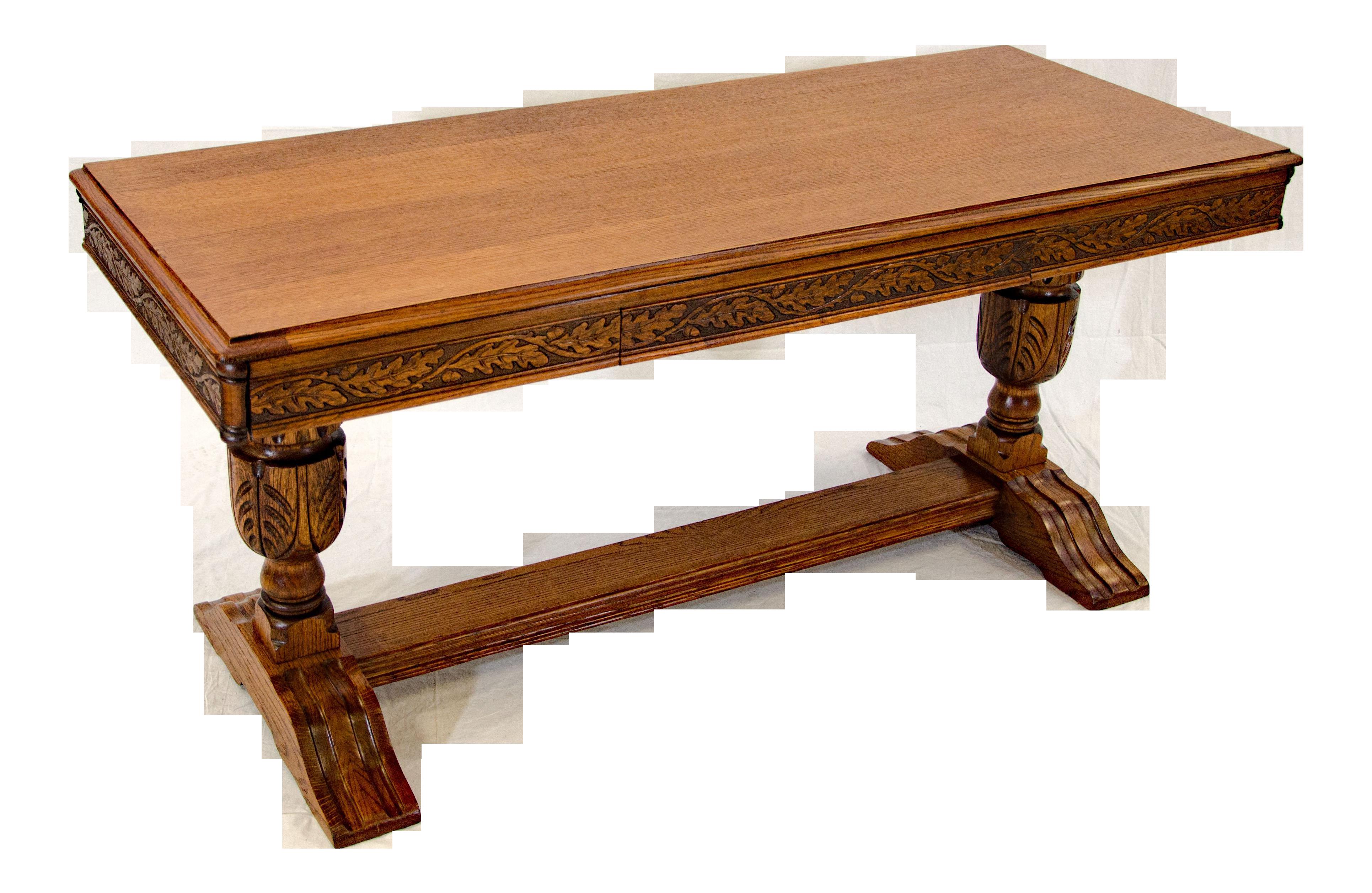 Picture of: Antique Victorian Oak Sofa Table Chairish