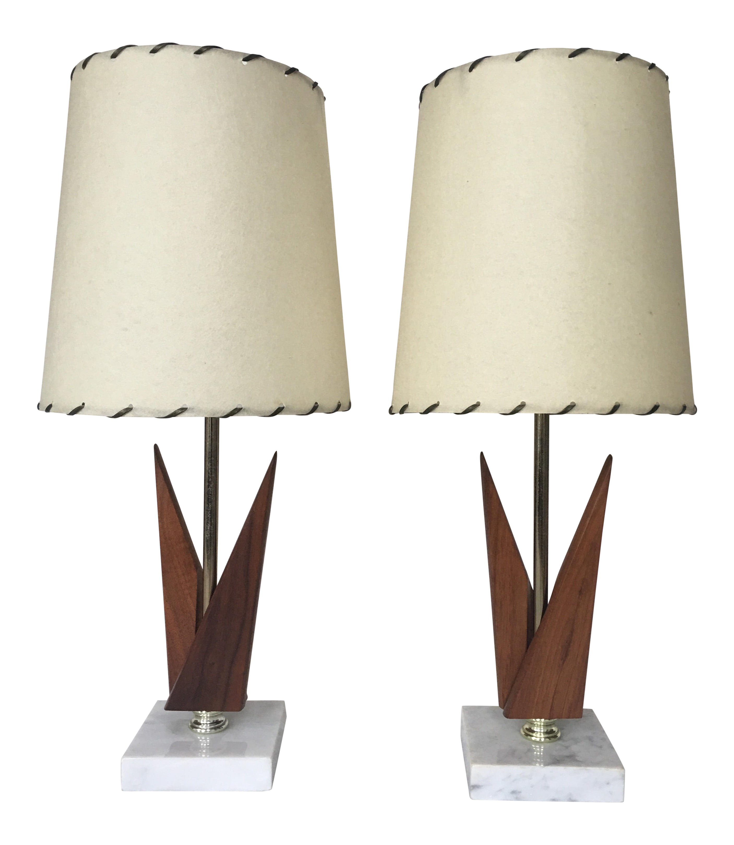 Image of: Mid Century Modern Table Lamps A Pair Chairish