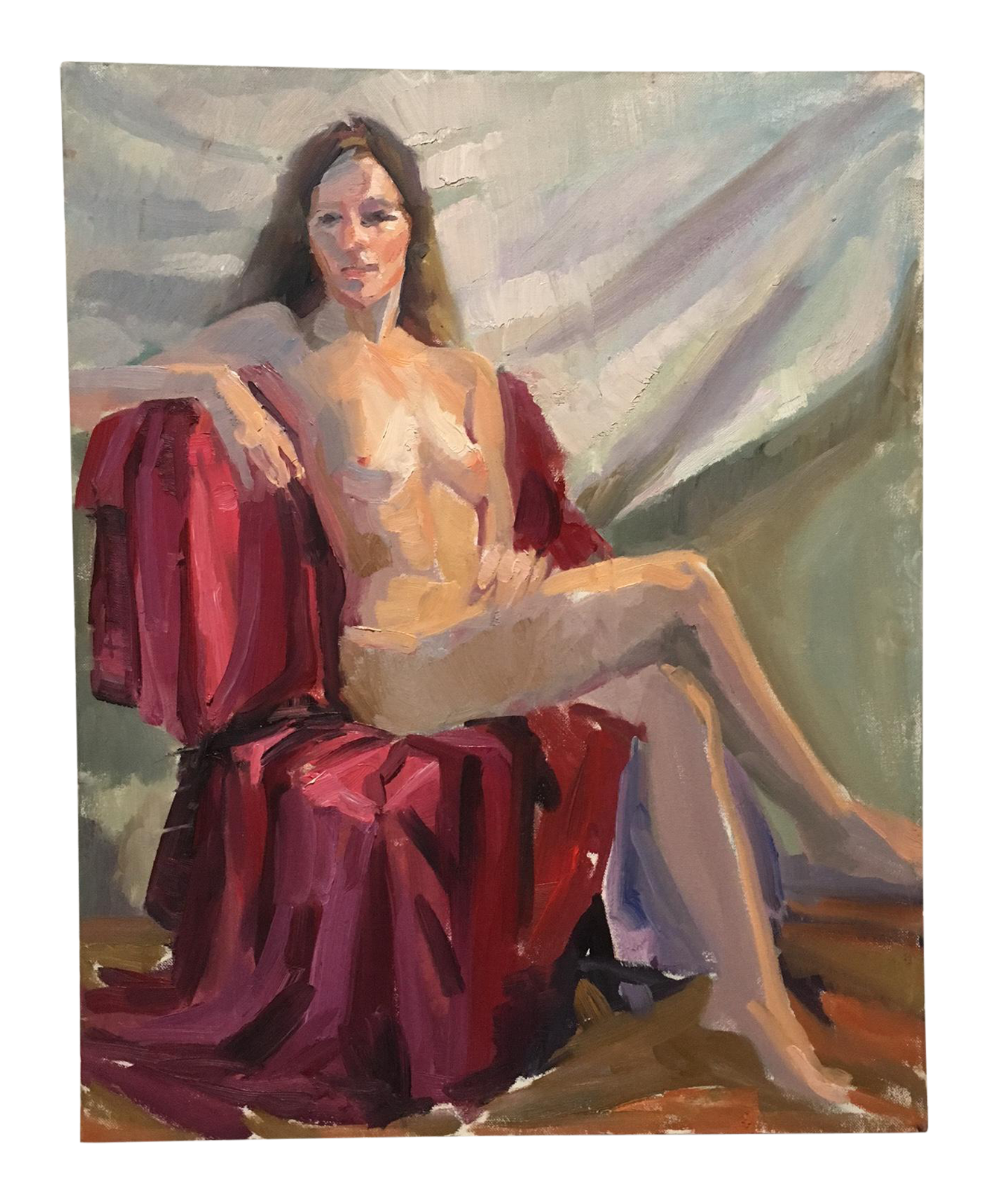 Vintage Nude Figure Study In Oil Painting Chairish