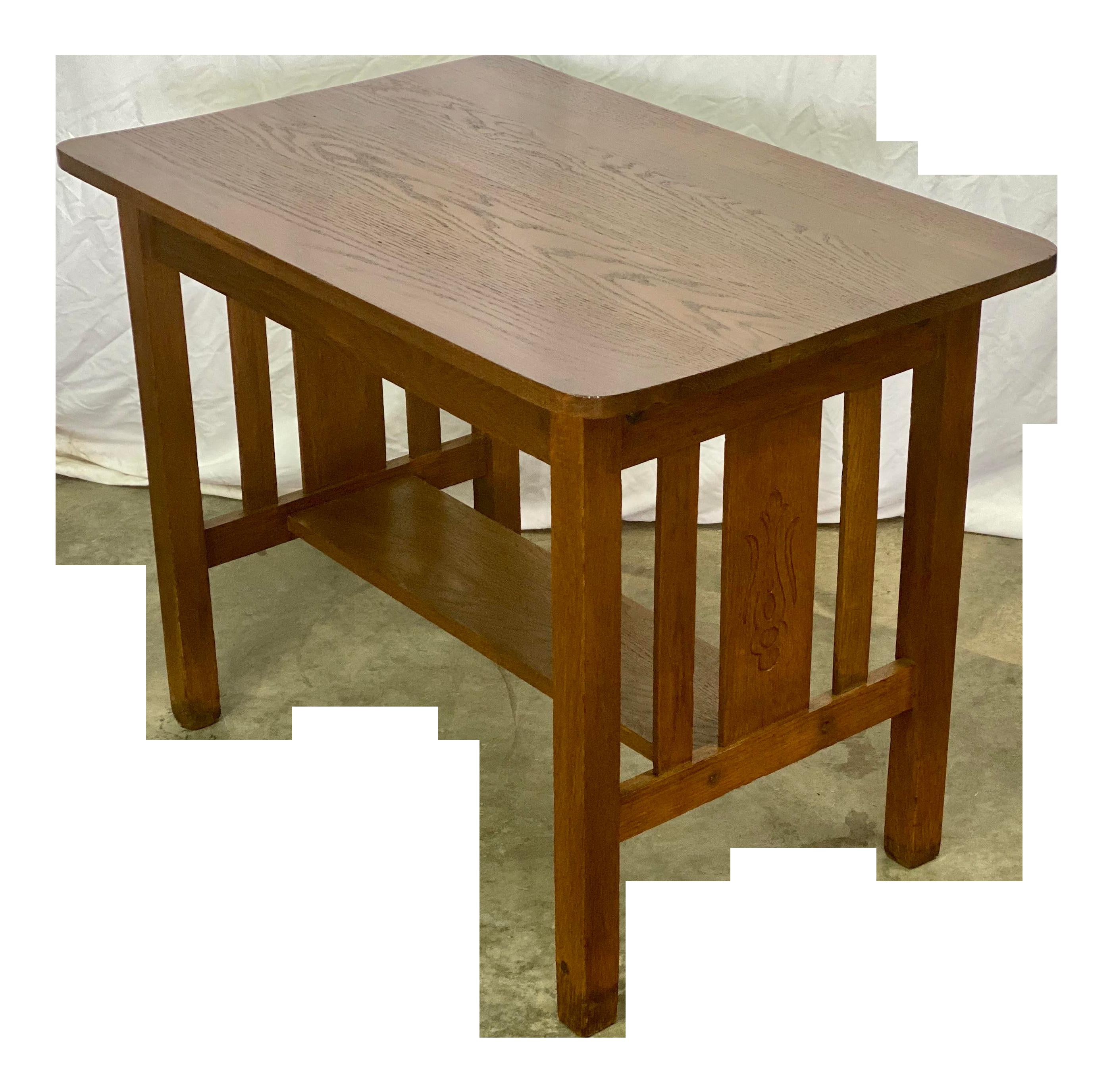Antique Rustic American Oak Mission Style Writing Desk Chairish