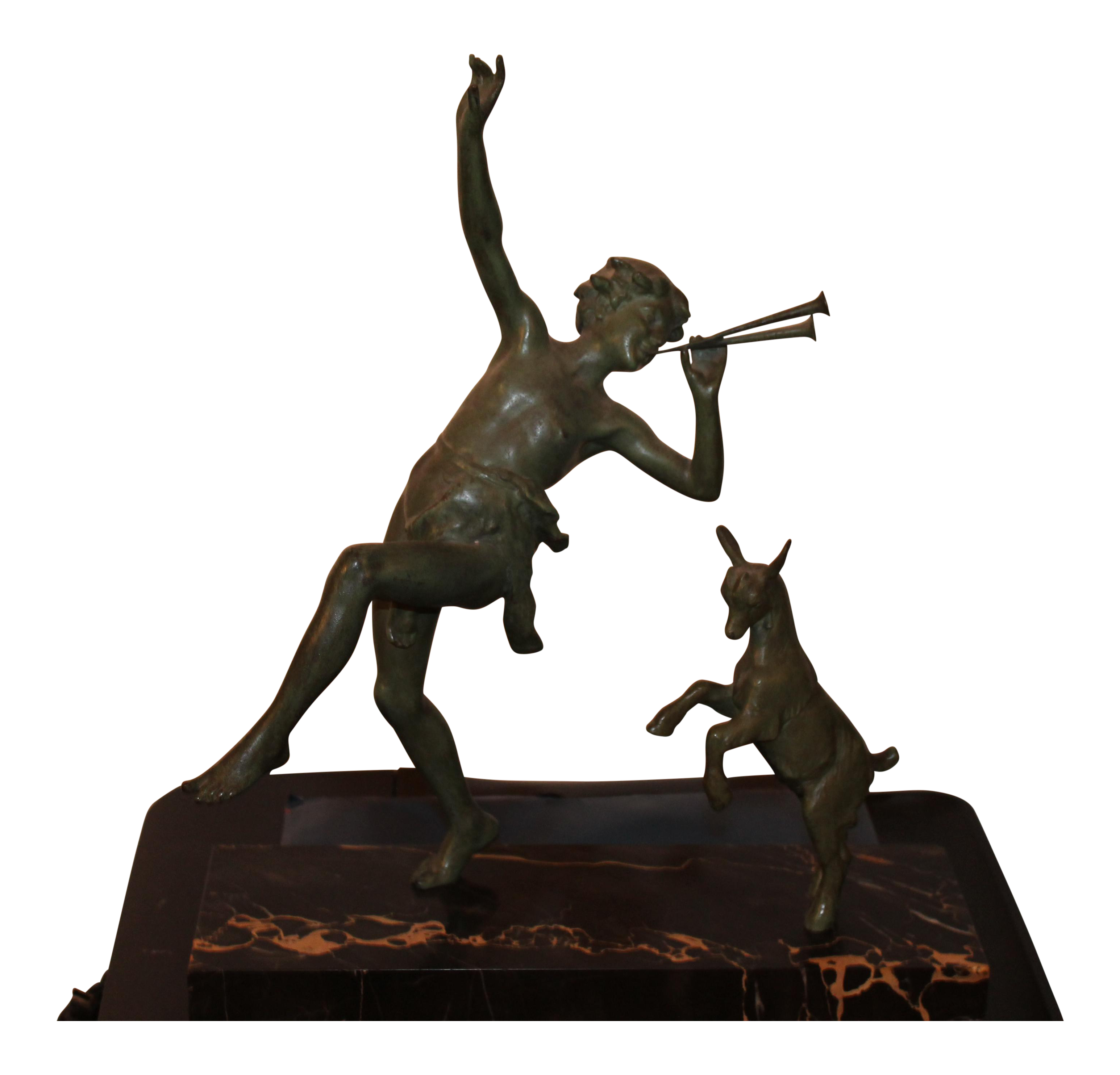 1920 S French Art Deco Important Signed Bronze Sculpture