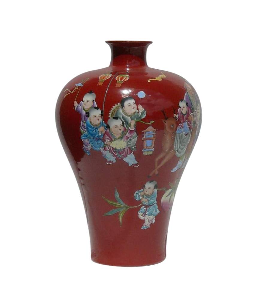 Old chinese vase image collections vases design picture red painted chinese longevity old man kids vase chairish reviewsmspy reviewsmspy