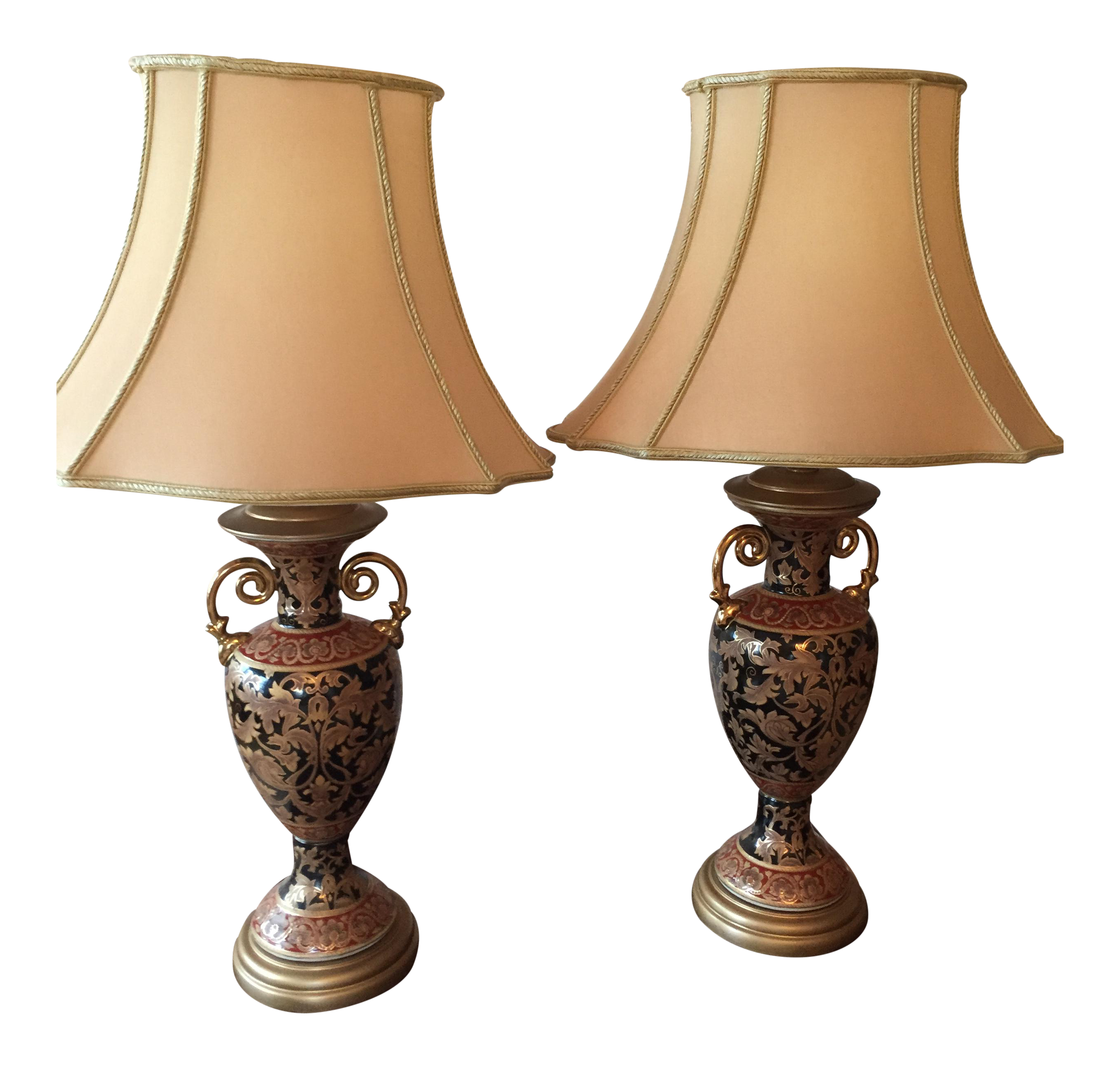 Bombay Company Table Lamps - A Pair   Chairish