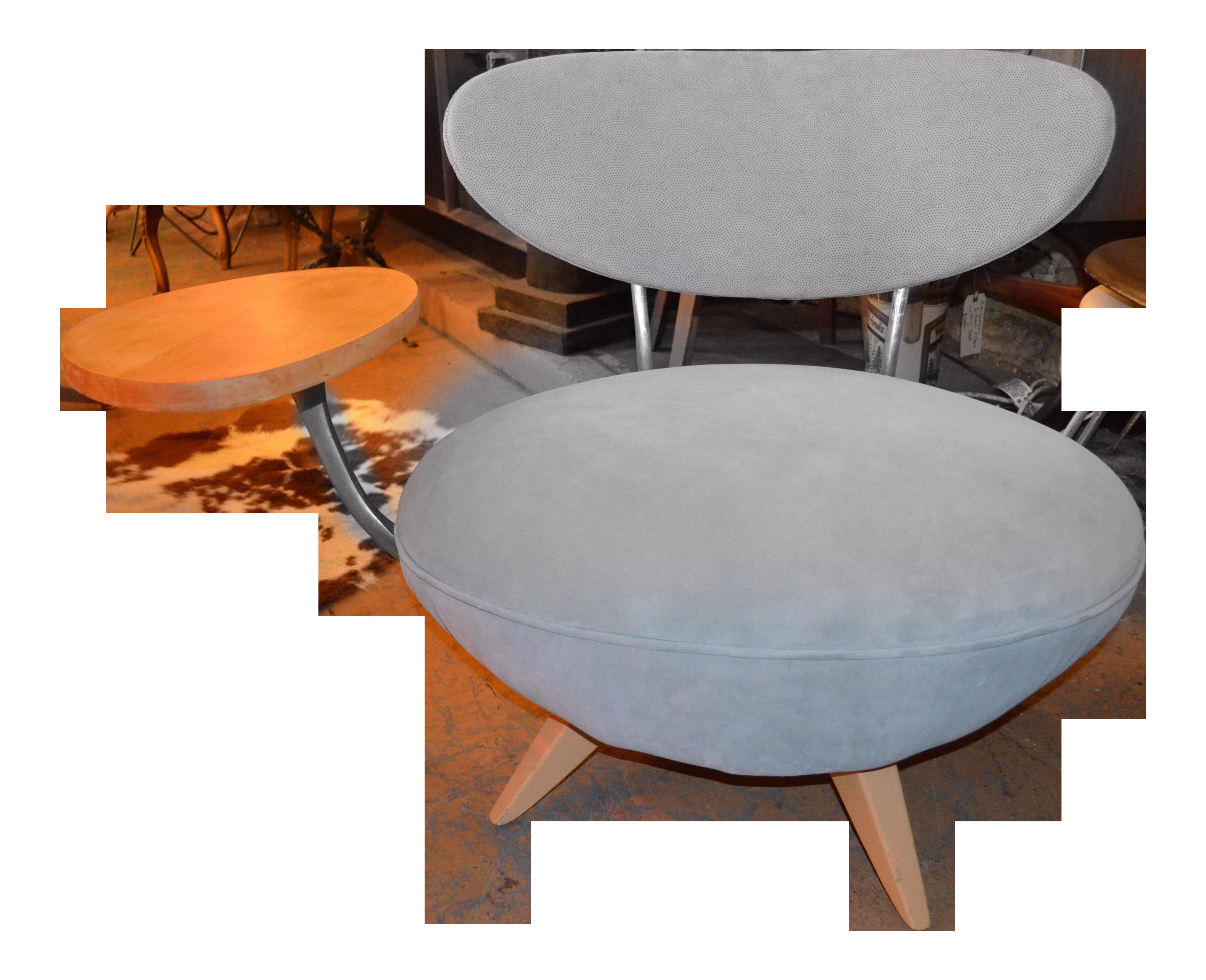 Art Deco Galerkin Designs Table Side Swivel Chair Newly