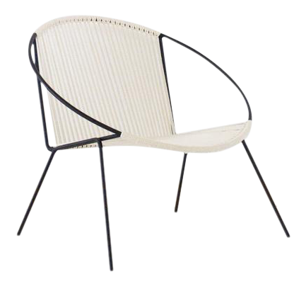 modern hoop rope chair chairish rh chairish com modern rope rocking chair Chair Rope Swing