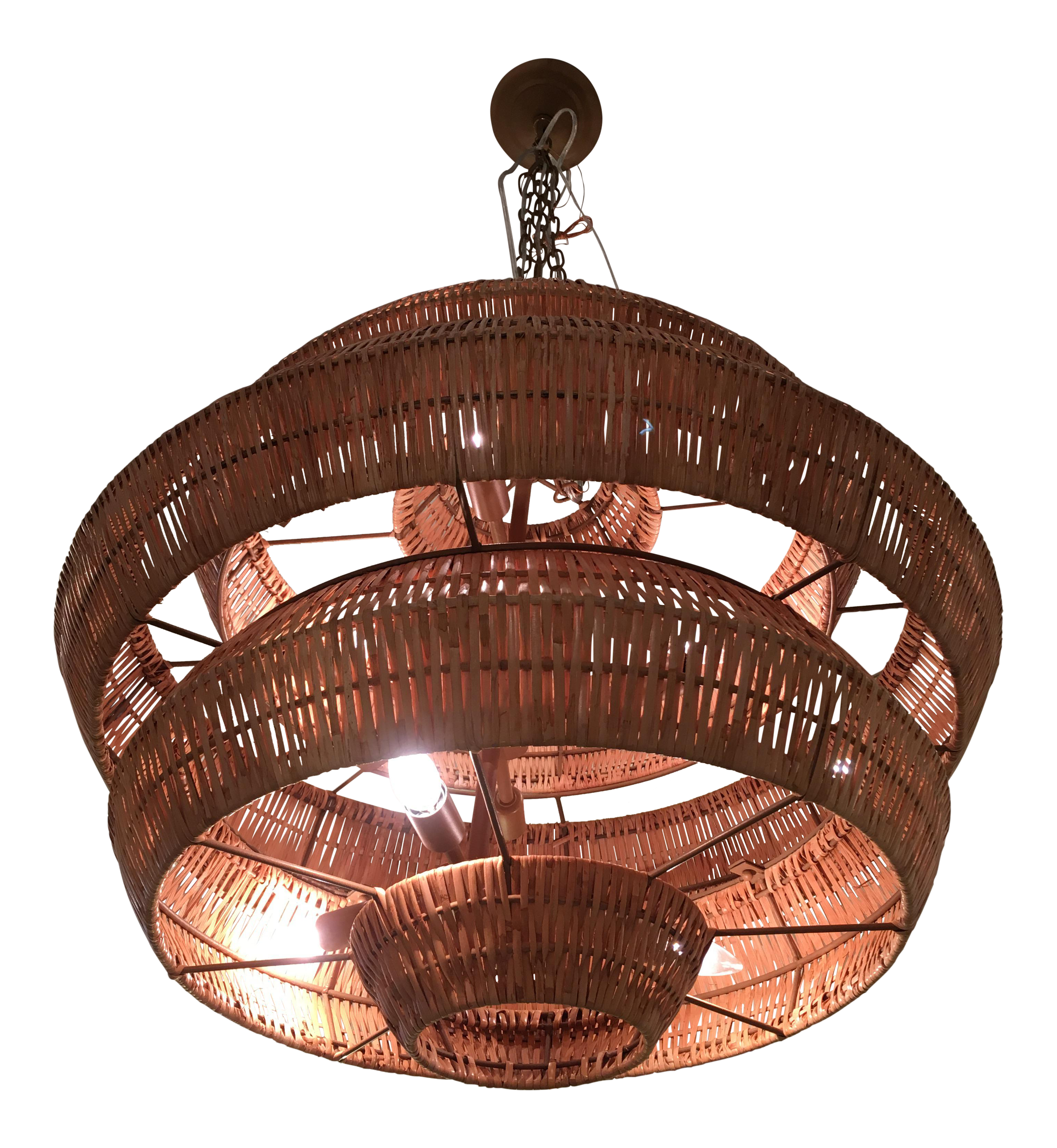 company new currey chandelier antibes lighting and rattan product chairish light
