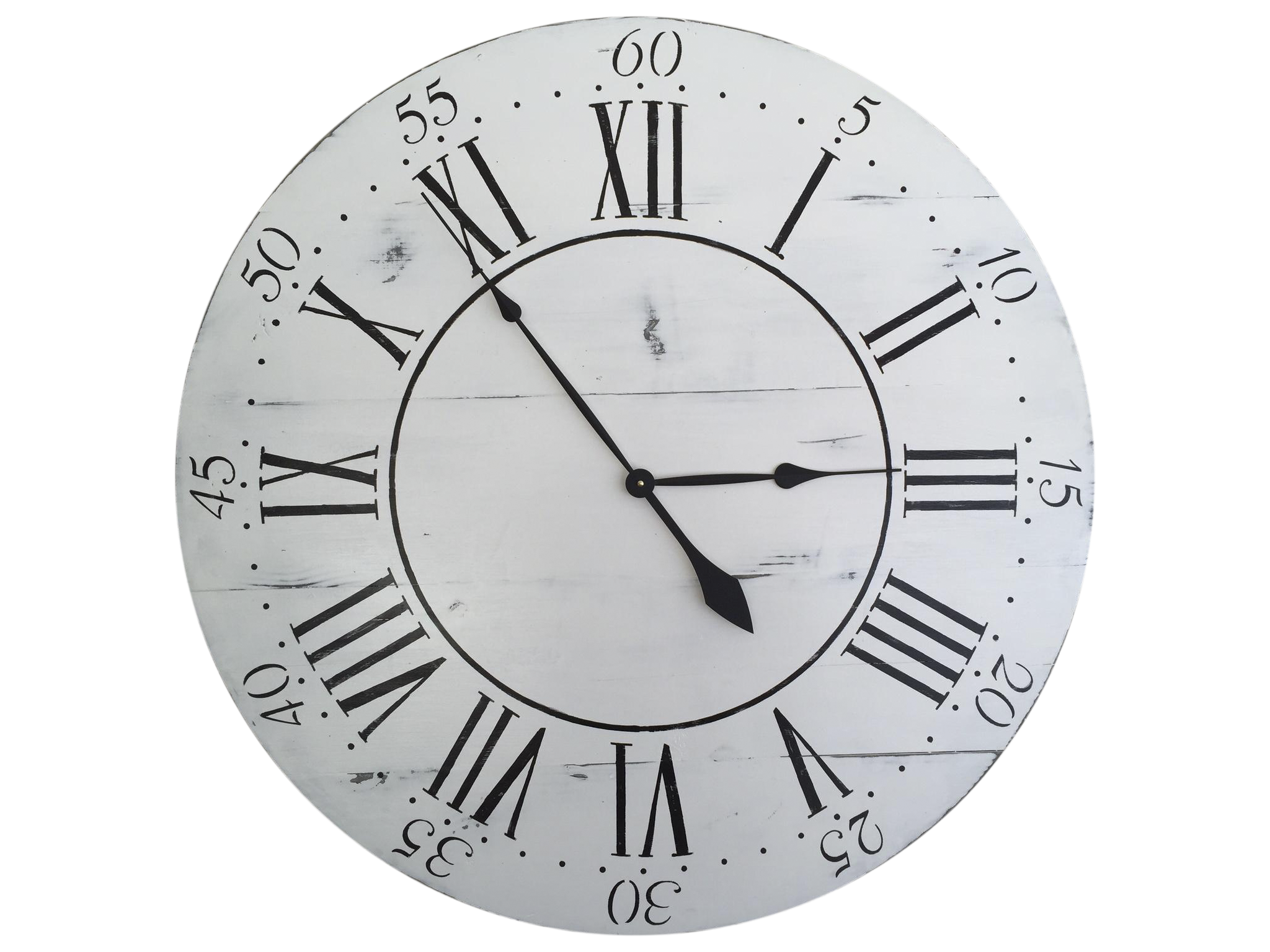 Vintage Style 36 Round Wood Wall Clock