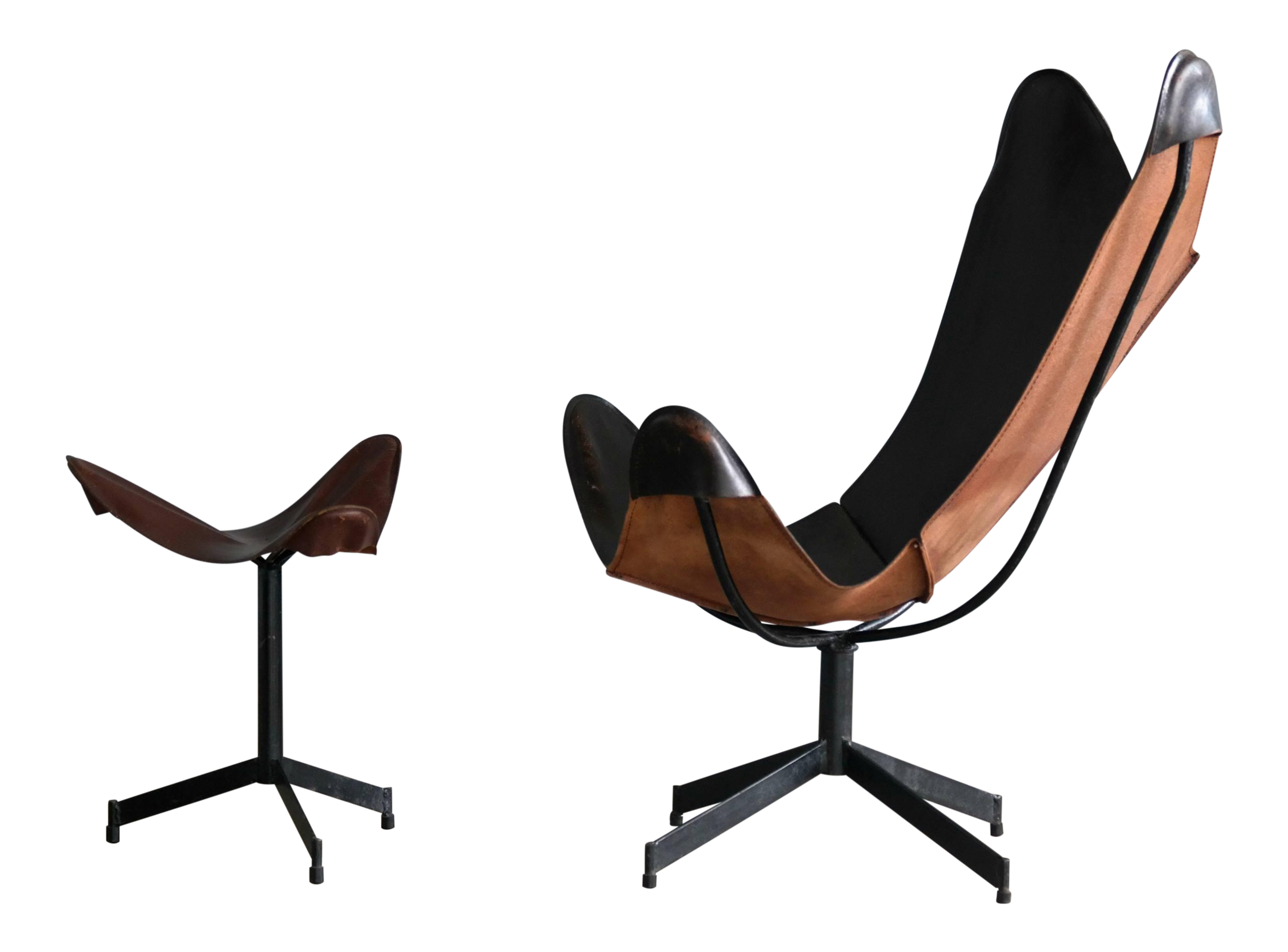 Prime William Katavolos Leather Sling Chair And Ottoman For Leathercraft Uwap Interior Chair Design Uwaporg
