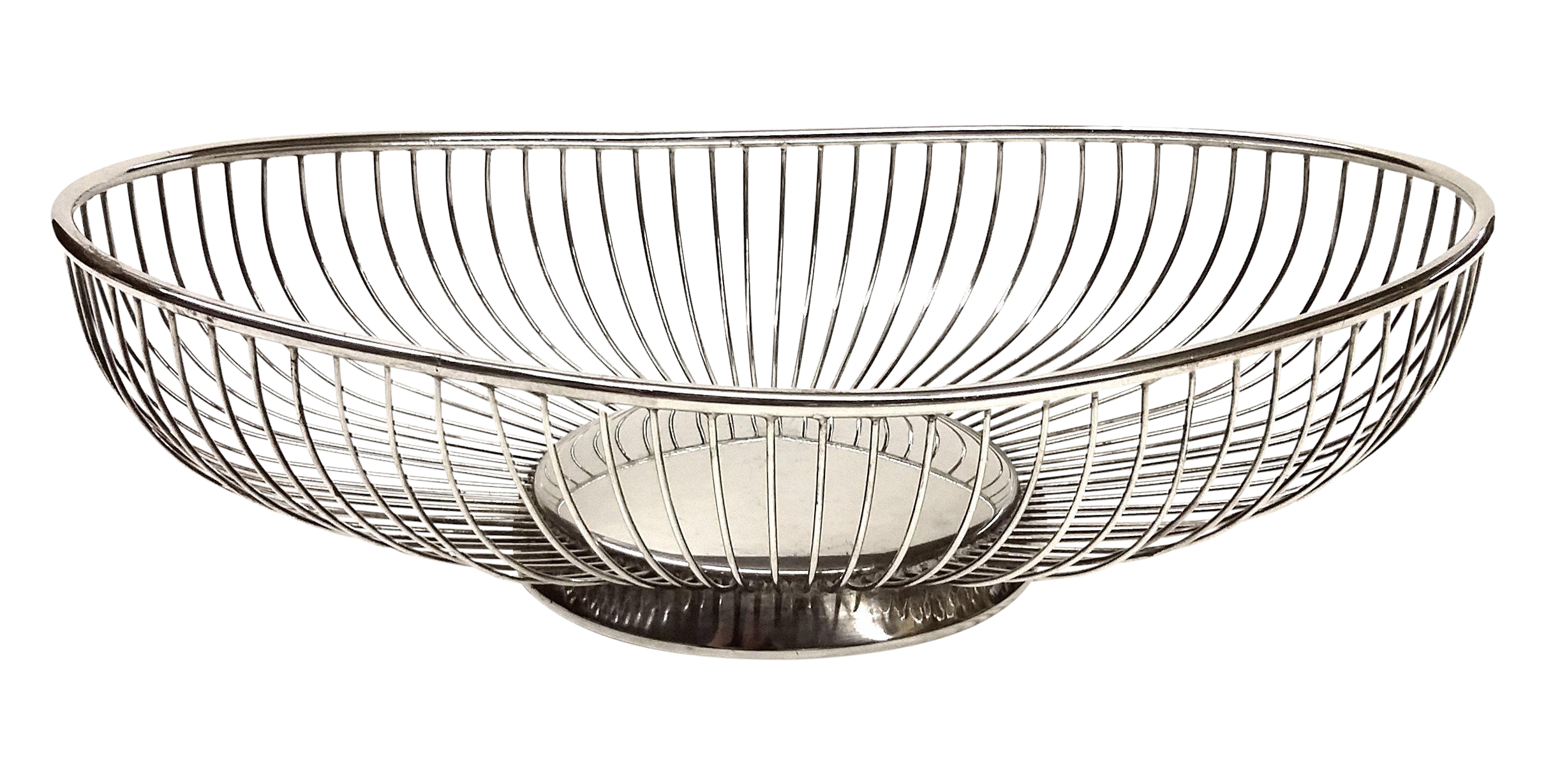 Vintage Silver Wire Oval Breadbasket/Fruit Bowl | Chairish