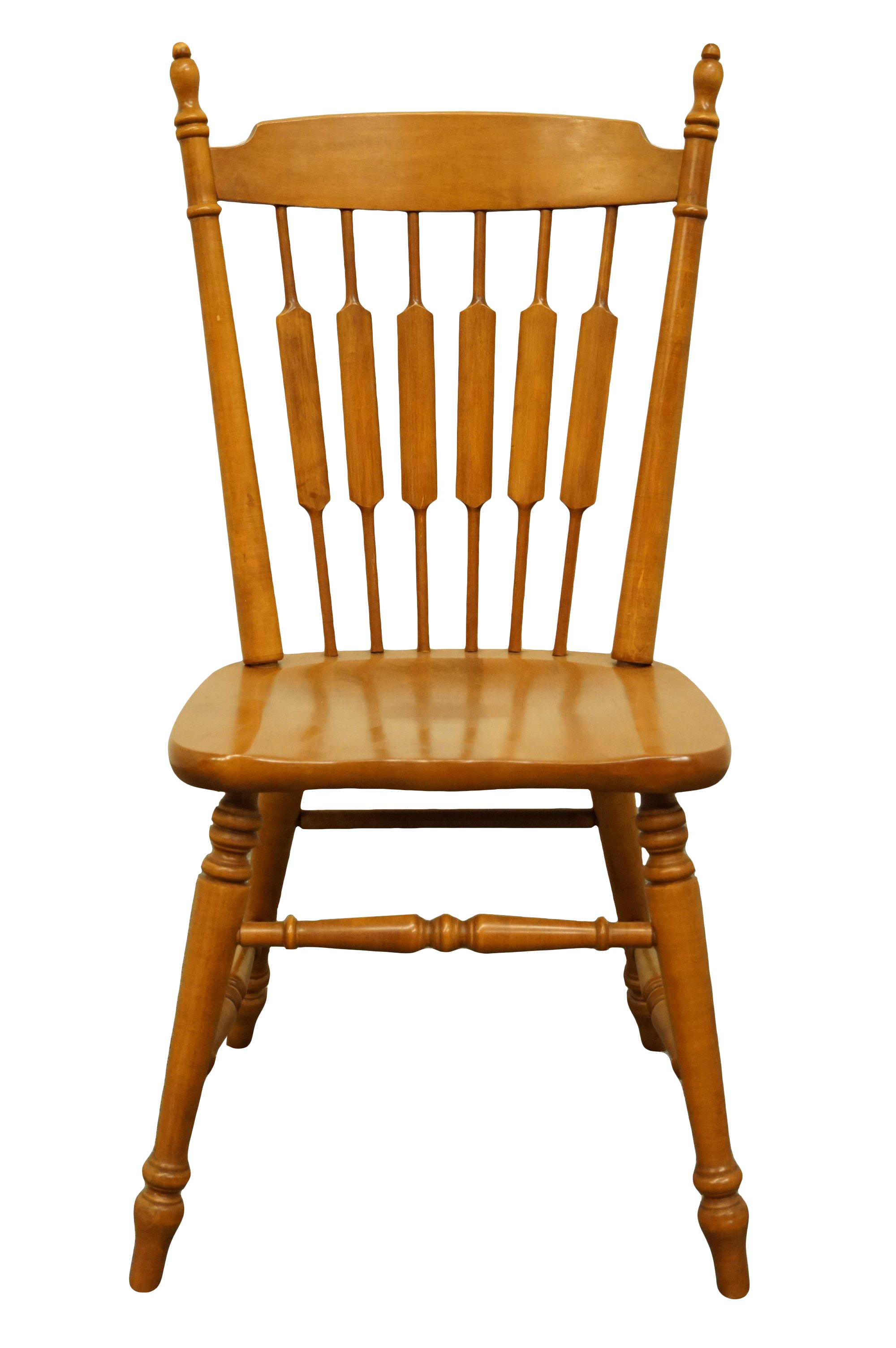#48 Andover Finish TELL CITY Solid Maple Cattail Back Dining Side Chair 8034 w