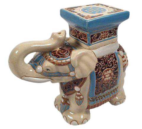 Ceramic Elephant Plant Stand Chairish