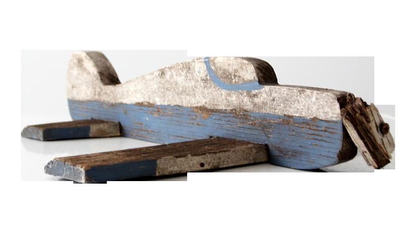 Vintage Wooden Toy Airplane Chairish