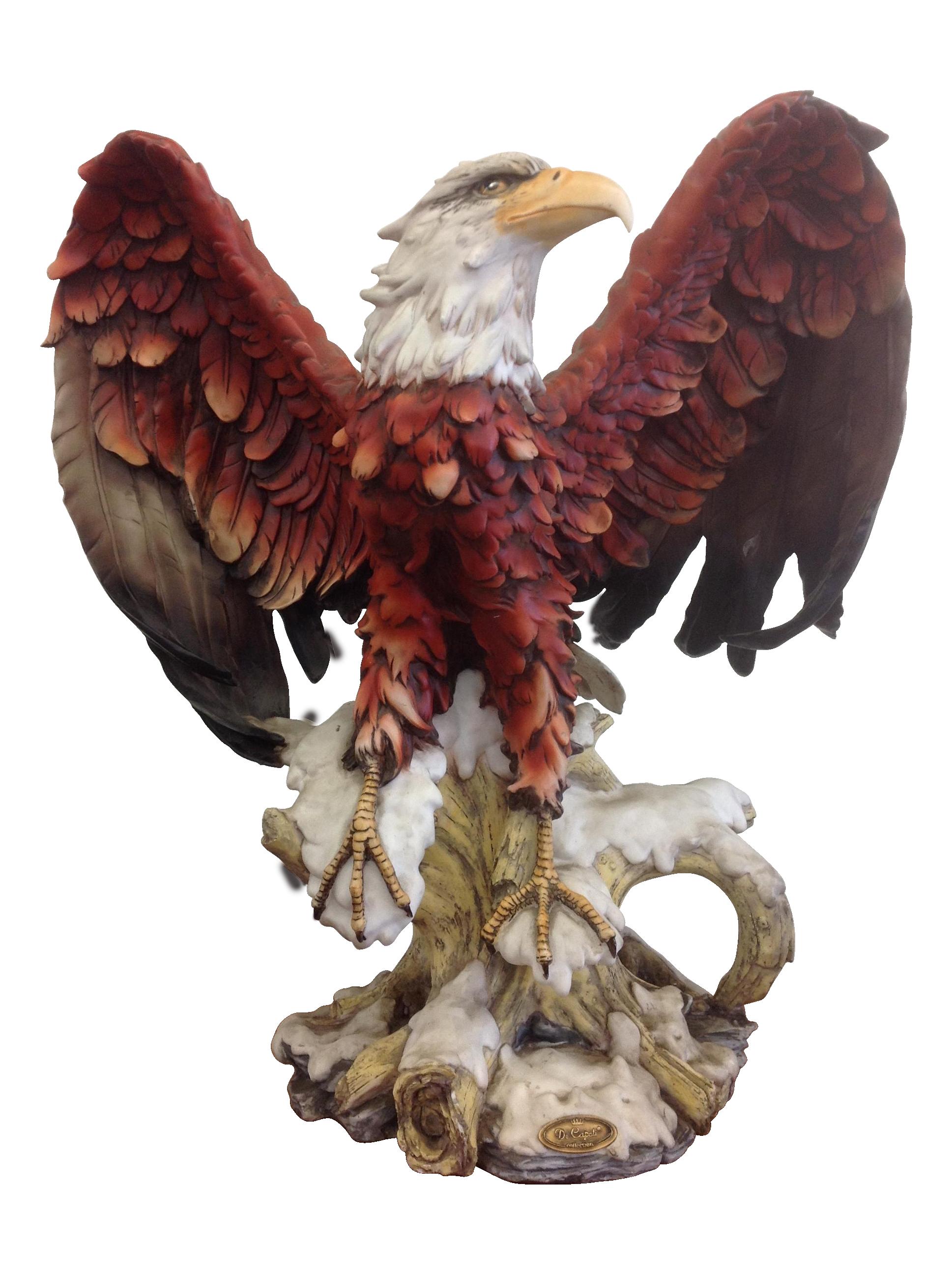 Decapoli Collection Bald Eagle Sculpture Chairish