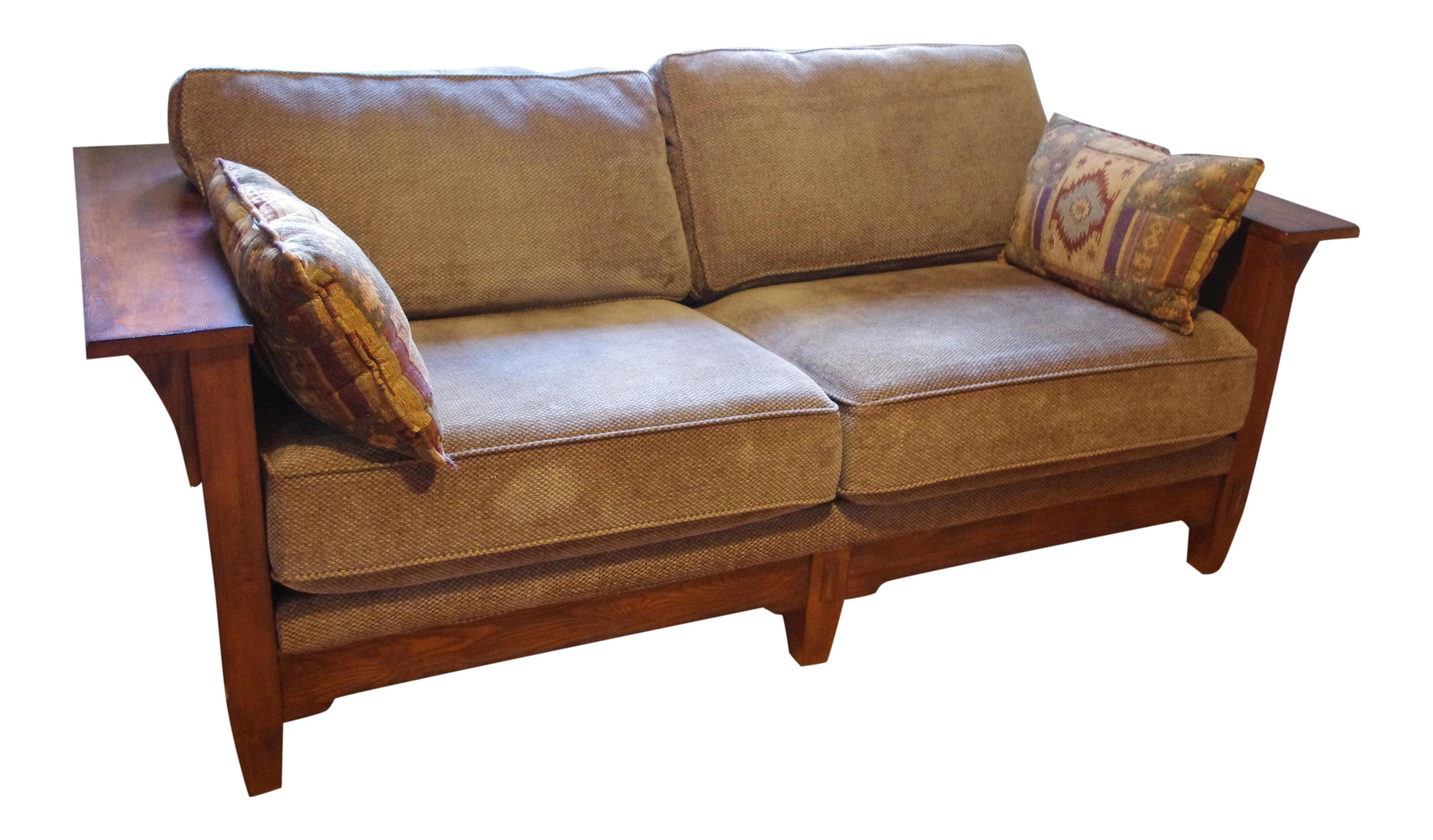Tremendous Flexsteel Mission Arts And Crafts Style Oak Sofa Uwap Interior Chair Design Uwaporg