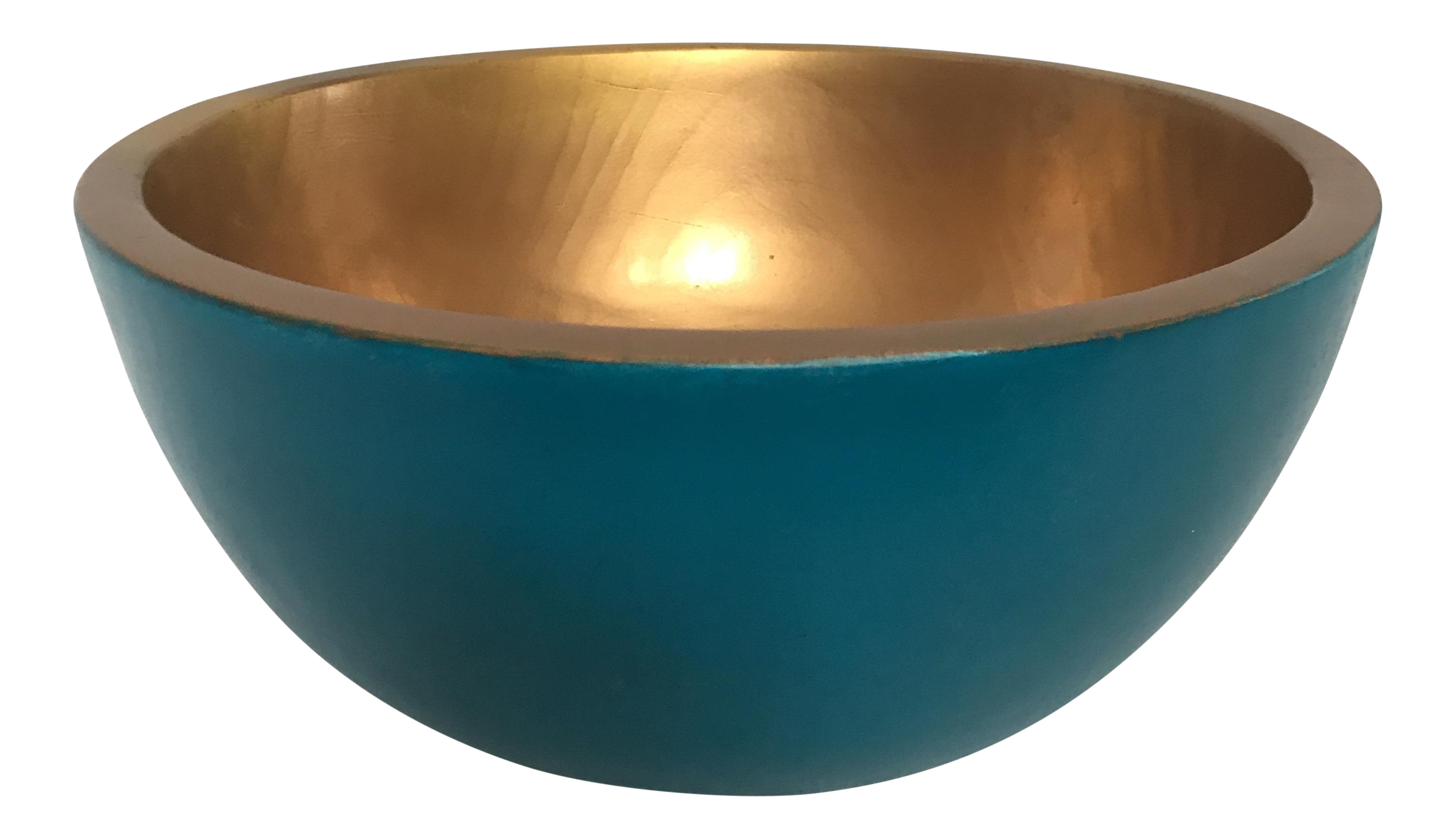 Lacquered Turned Wood Bowl Chairish