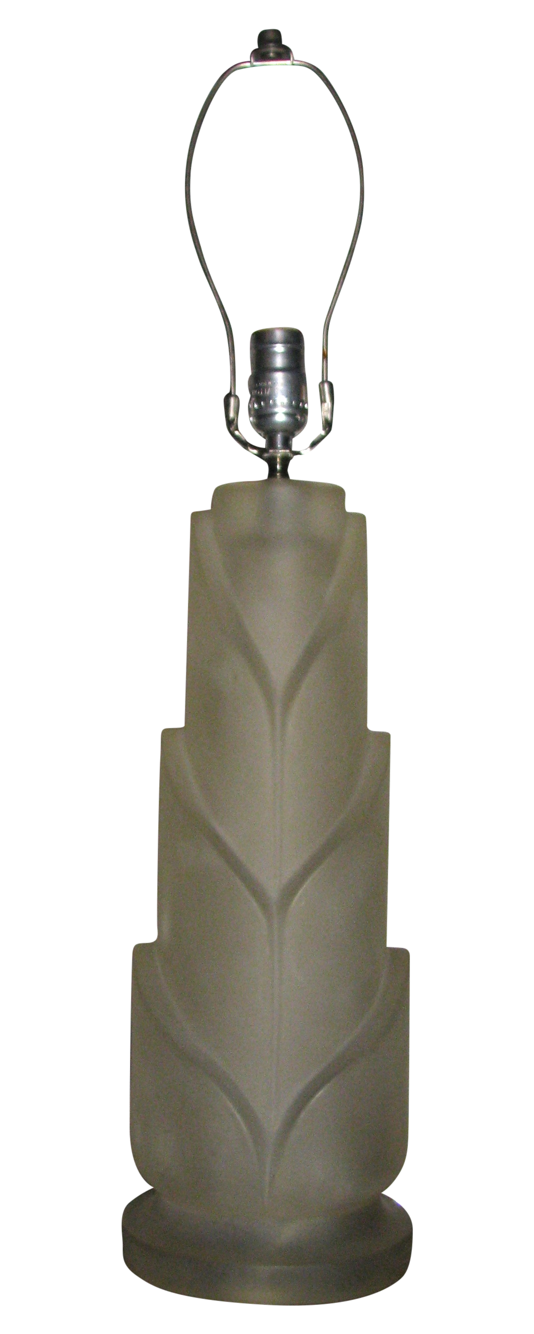 1960s Paolo Gucci Frosted Resin Table Lamp Chairish