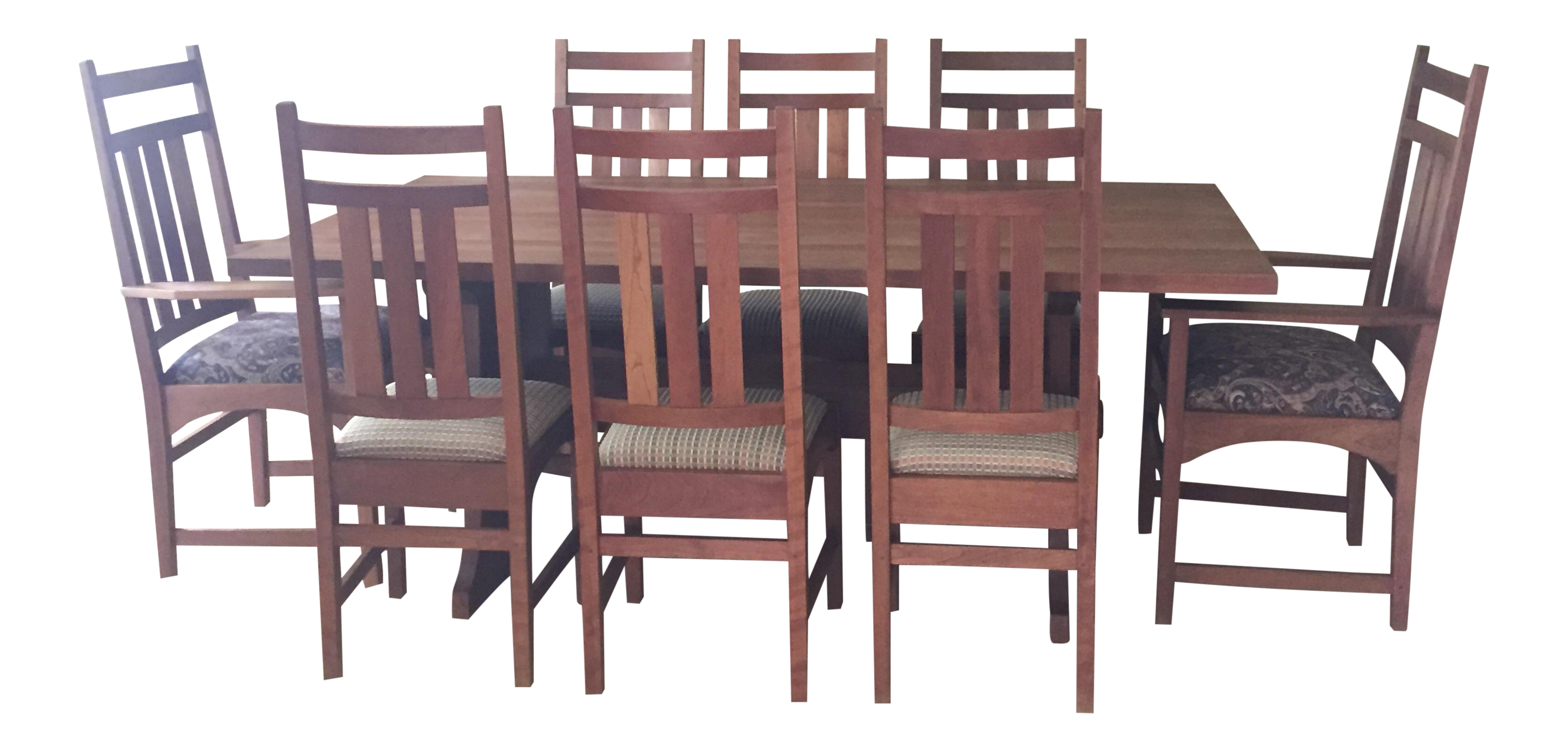 Cherry mission dining table dining room ideas stickley mission cherry dining table 8 chairs chairish dzzzfo