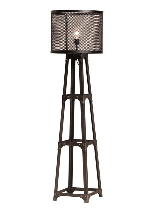Iron mesh floor lamp chairish for Gold mesh floor lamp