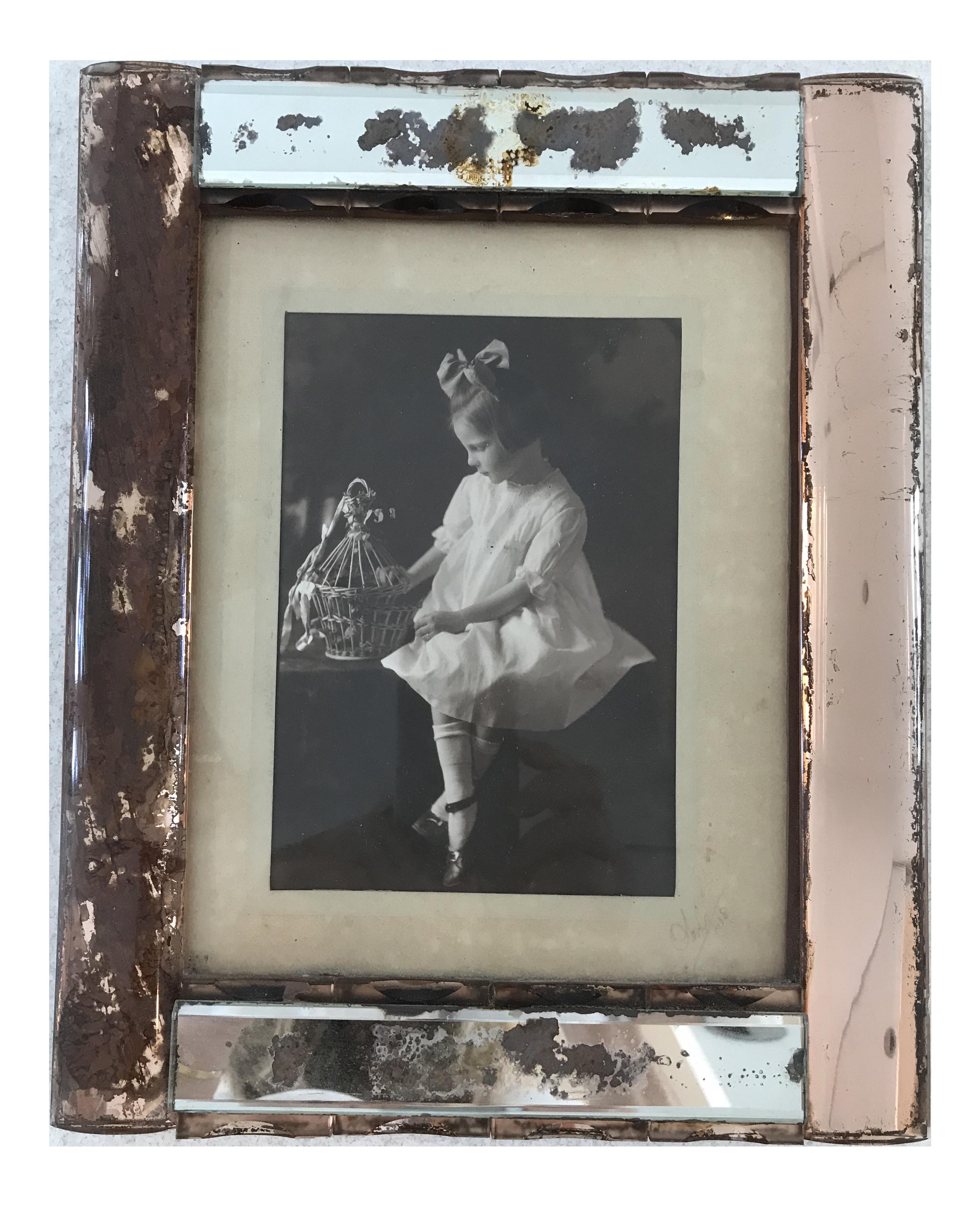 Antique Art Deco Picture Frame | Chairish