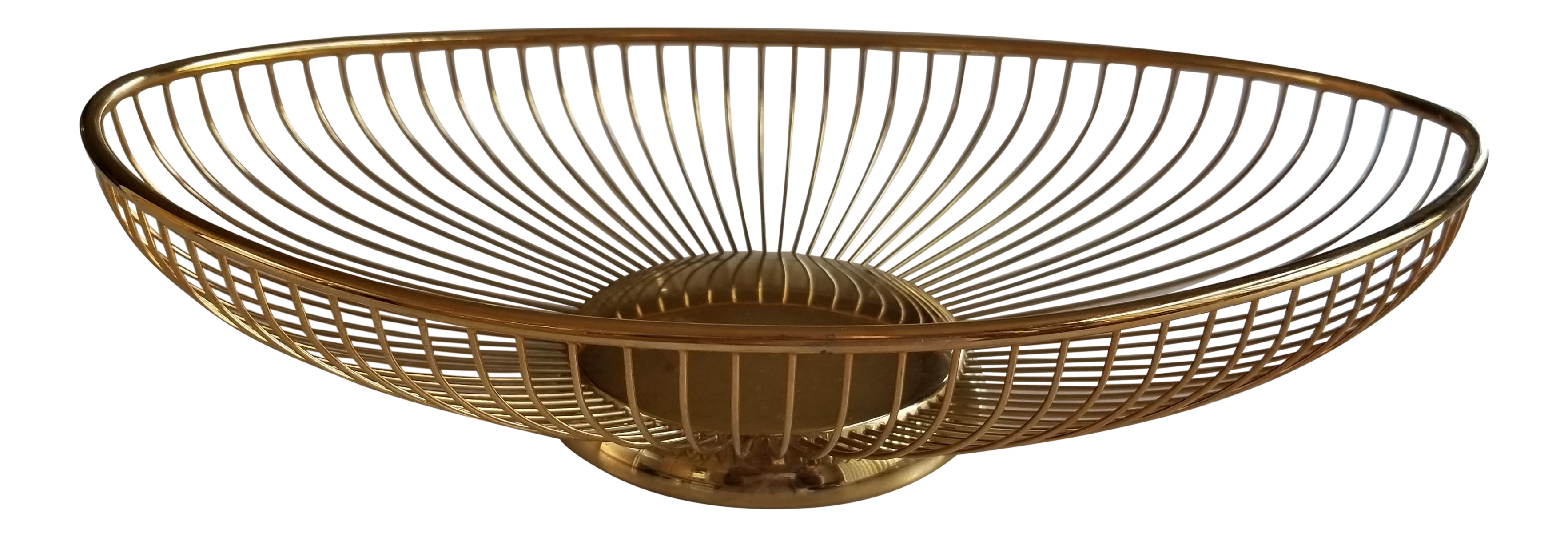 Italian Gold Plated Wire Bread Basket | Chairish