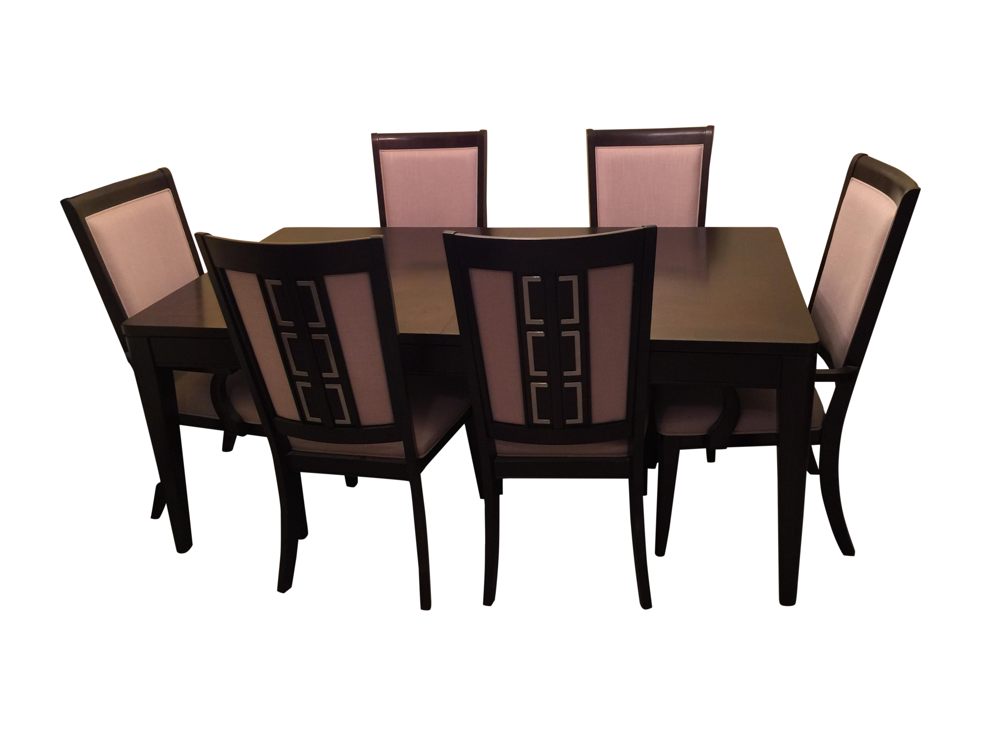 Raymour flanigan cadence dining set s 7 chairish for Kitchen cabinet trends 2018 combined with raymour and flanigan wall art
