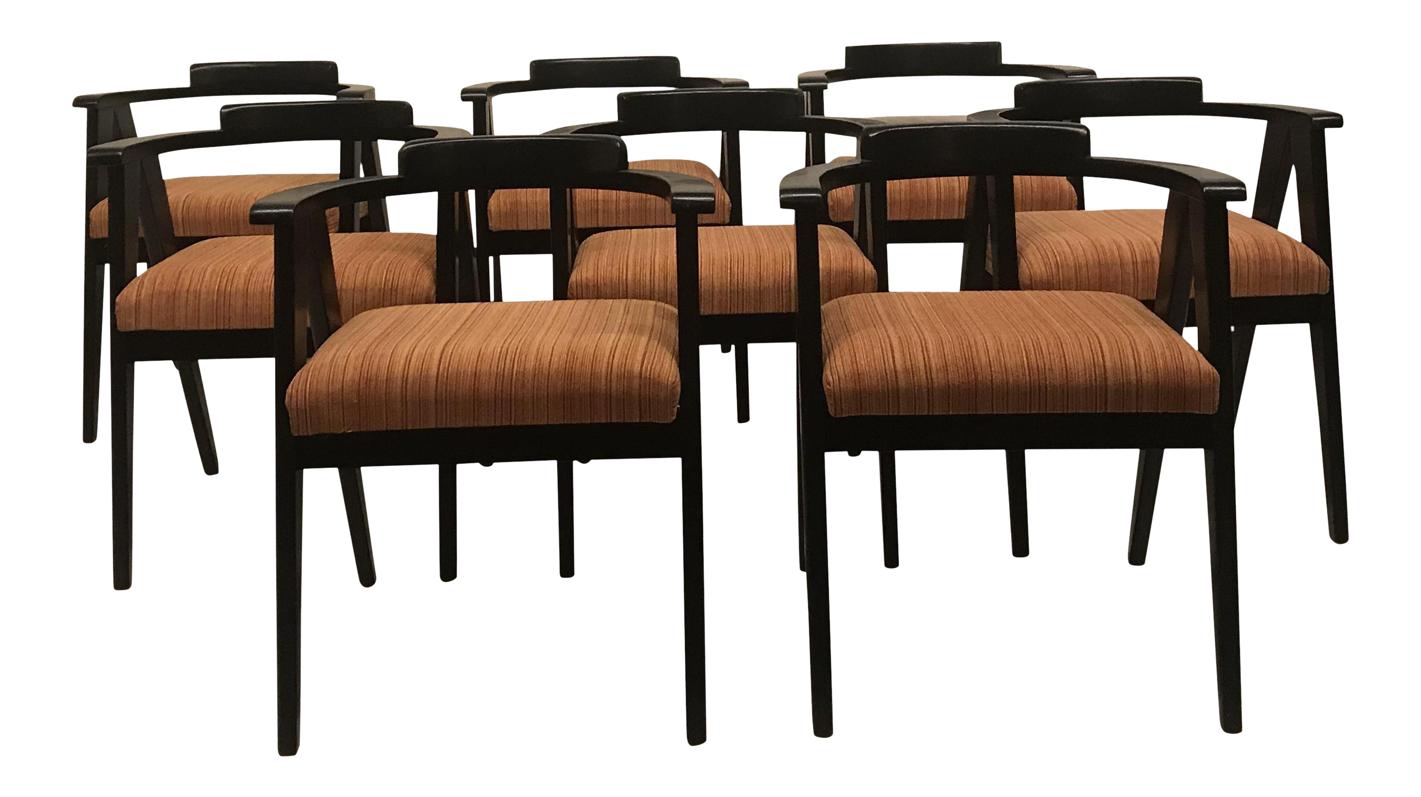 1960S Mid Century Modern Allan Gould Style Dining Chairs  Set