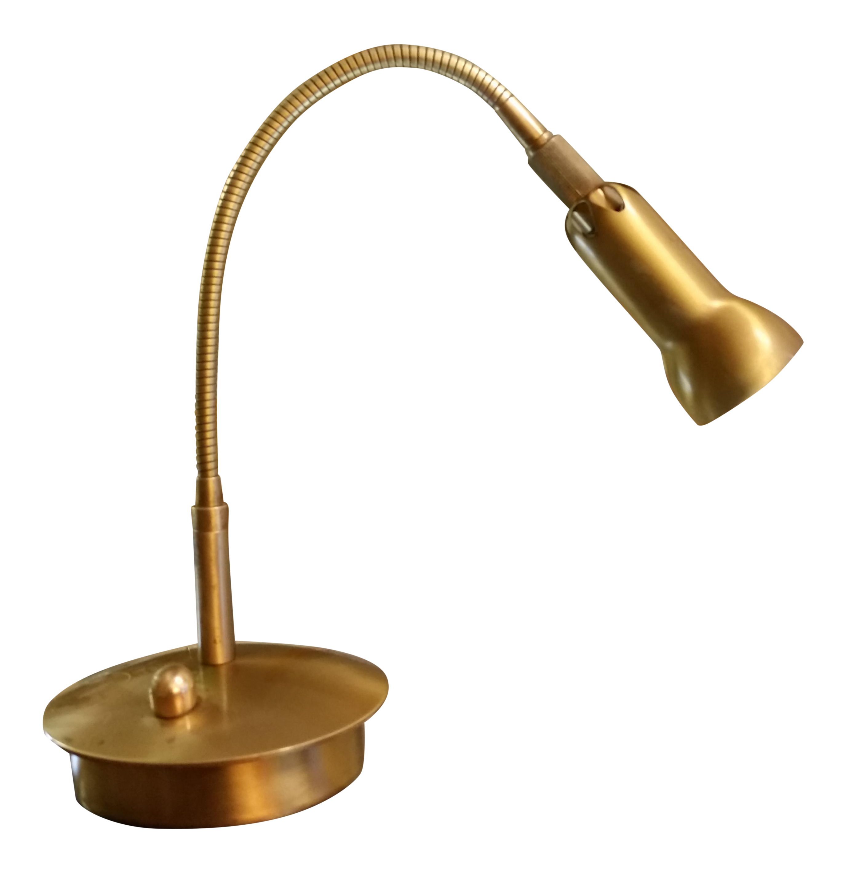 Levenger brass gooseneck reading lamp chairish