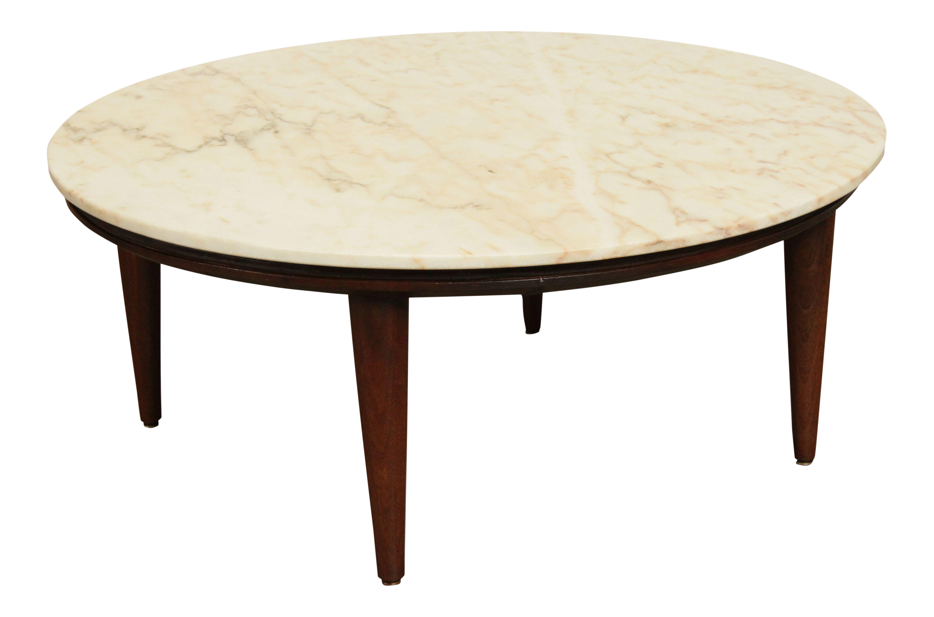 Mid Century Modern Vintage 38 Inch Round Marble Top Coffee Table Chairish