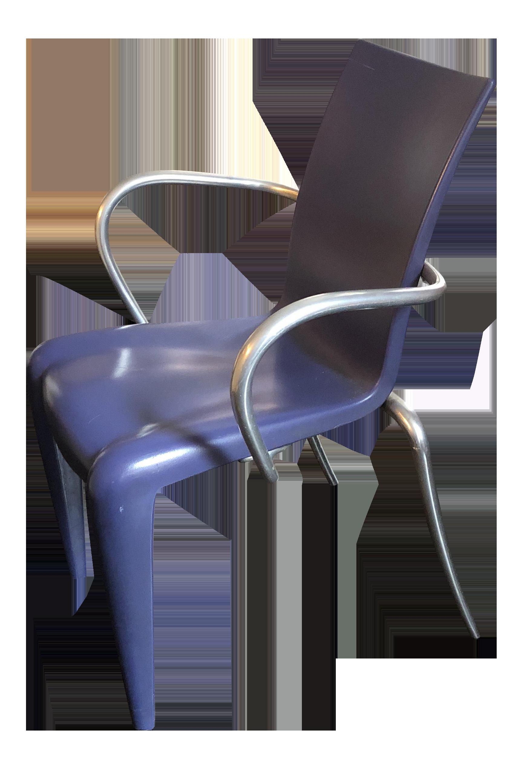 vitra philippe starck louis 20 armchair blue chairish