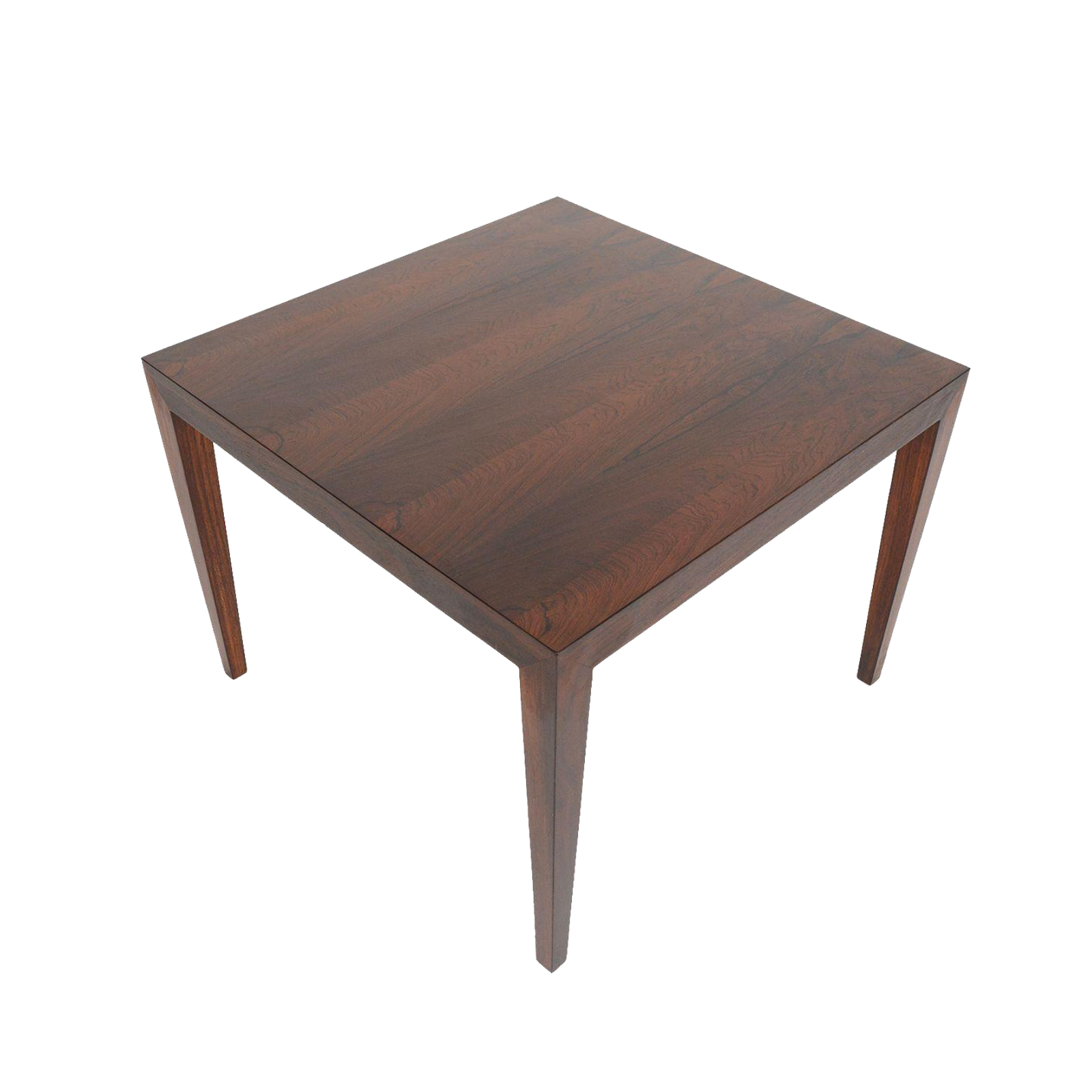 Severin hansen rosewood coffee table chairish for Table induction 71 x 52