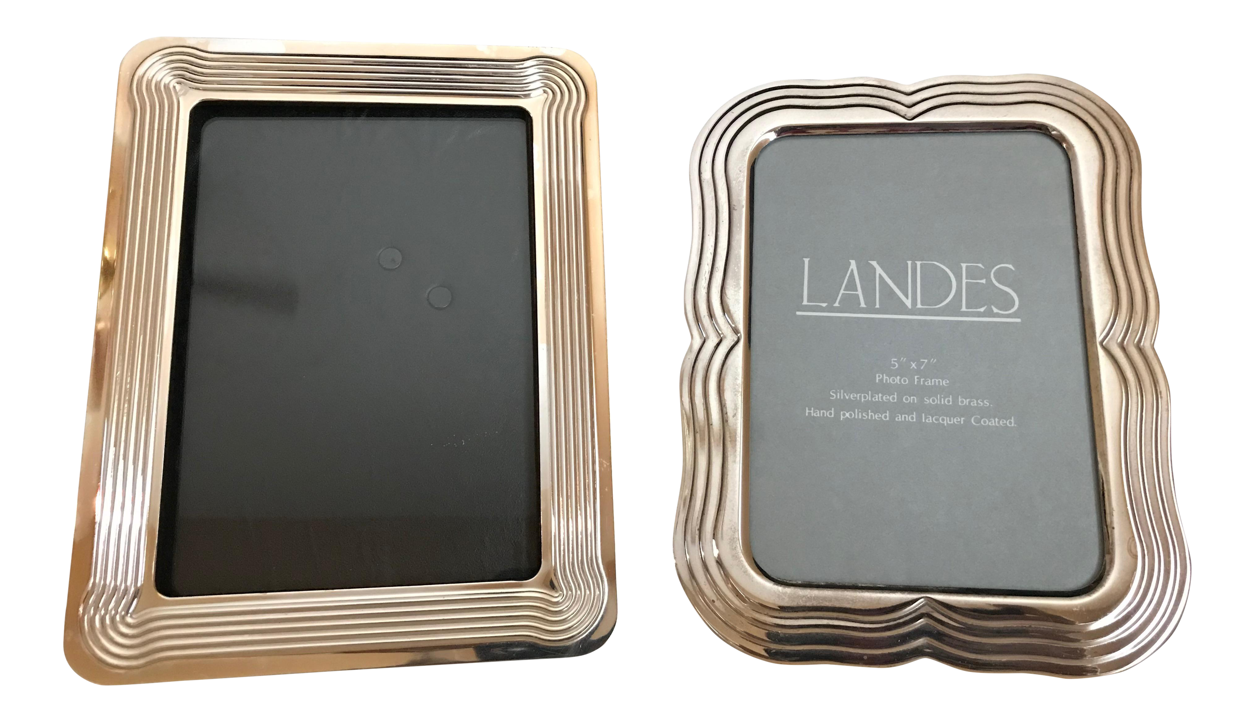 1980s Mid-Century Modern Silver Edge-Detailed Picture Frames: 5\' X 7 ...
