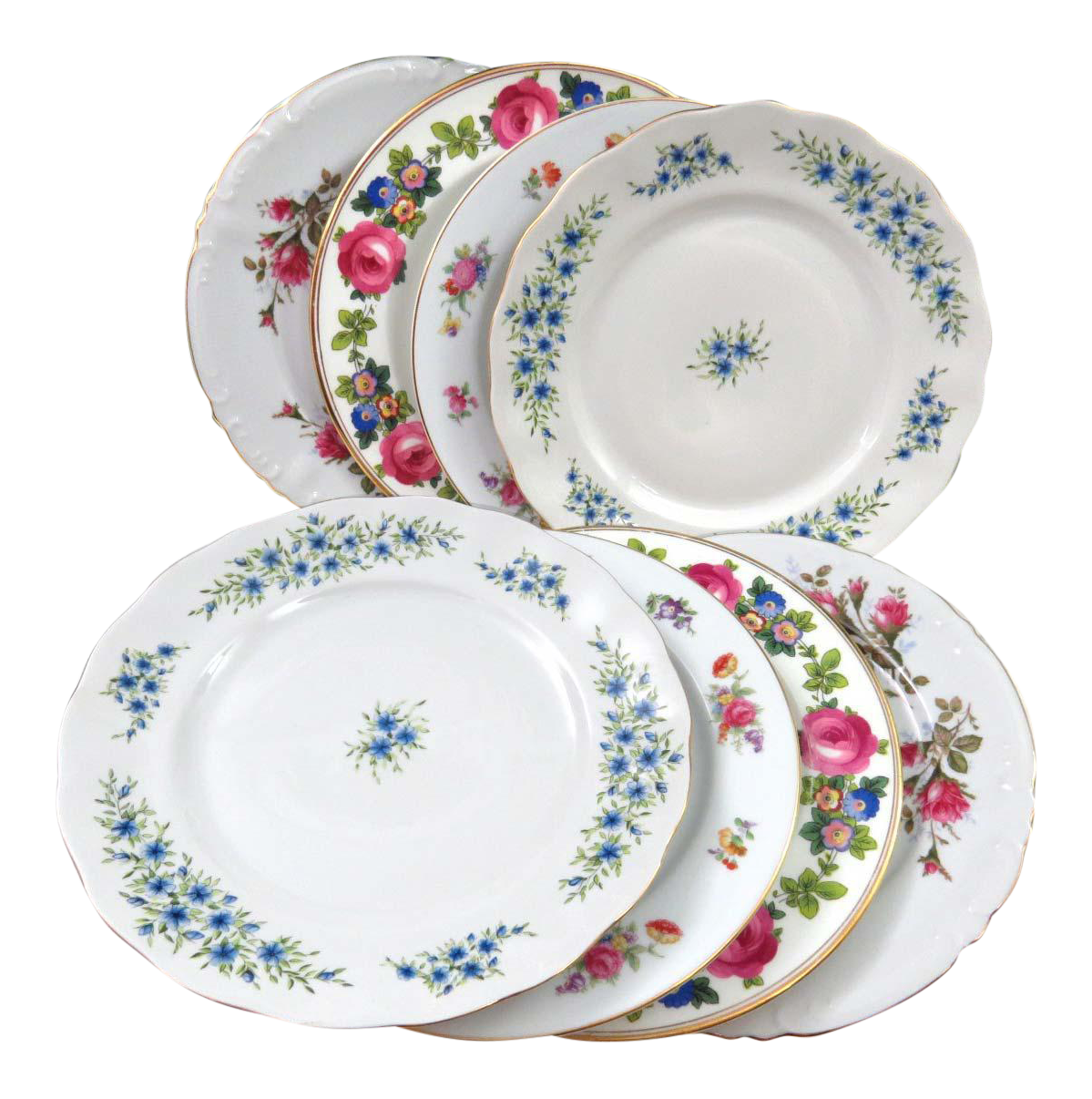 sc 1 st  Chairish & Mismatched Vintage Dinner Plates - Set of 8 | Chairish