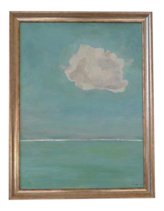 2017 natalie mitchell cloud with silver line oil painting chairish