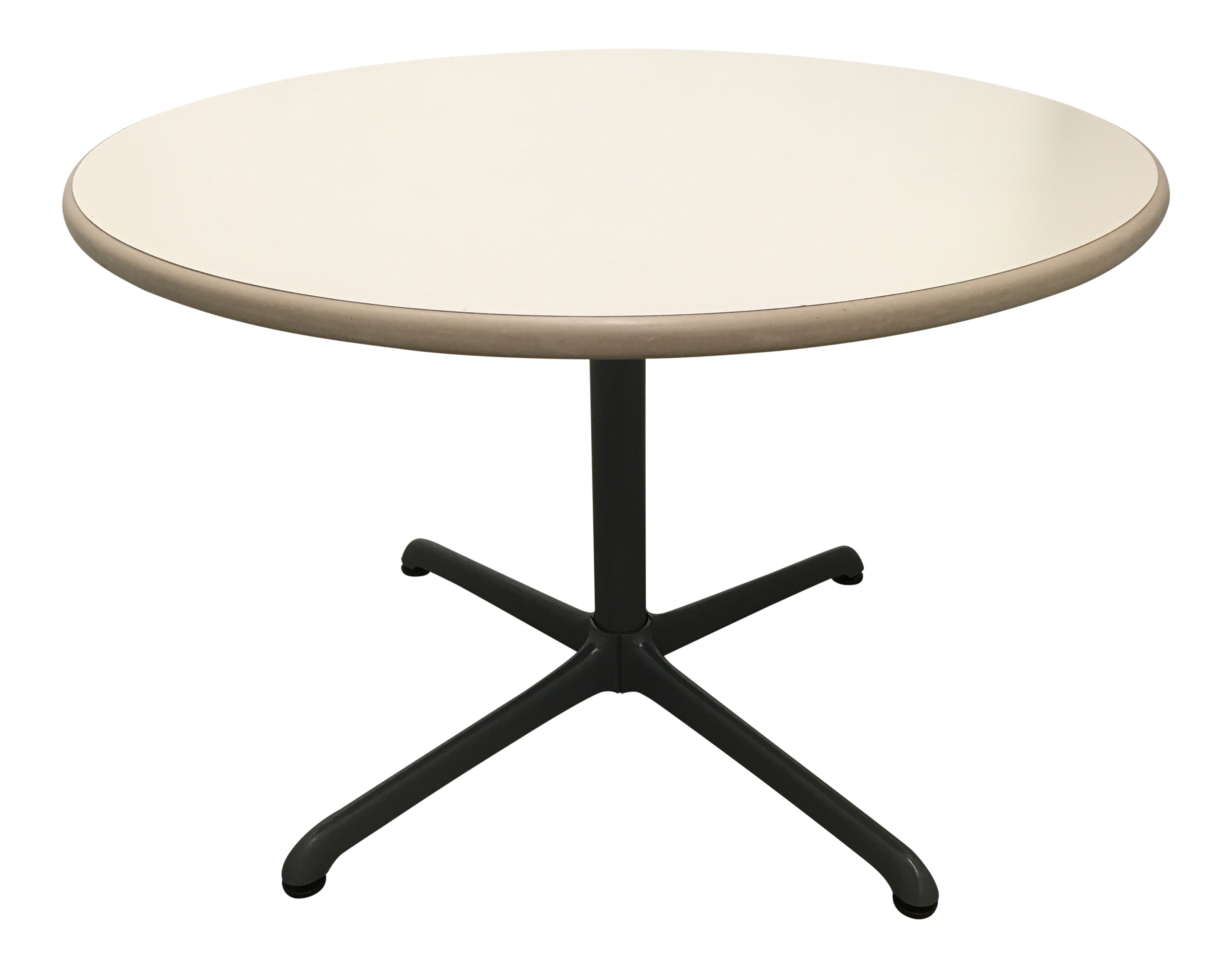 Image of: Mid Century Eames Style Bistro Table By Steelcase Chairish