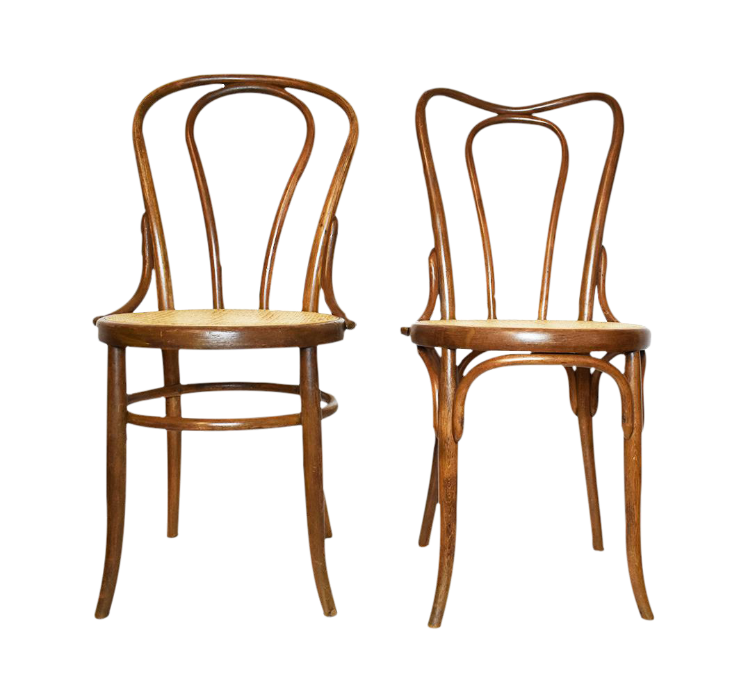 Antique Bentwood Chairs In The Style Of Michael Thonet Or Fischer  A Pair |  Chairish